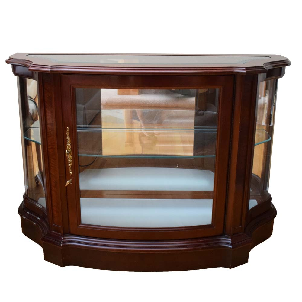 Jasper Furniture Console Display Cabinet With Glass Top