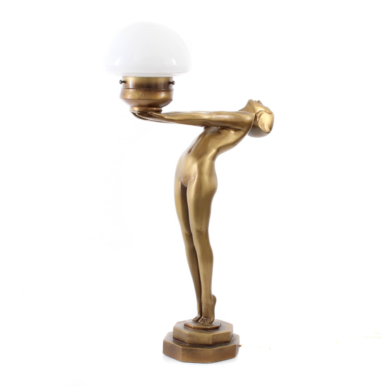Art Deco-Style Figural Table Lamp After Max le Verrier
