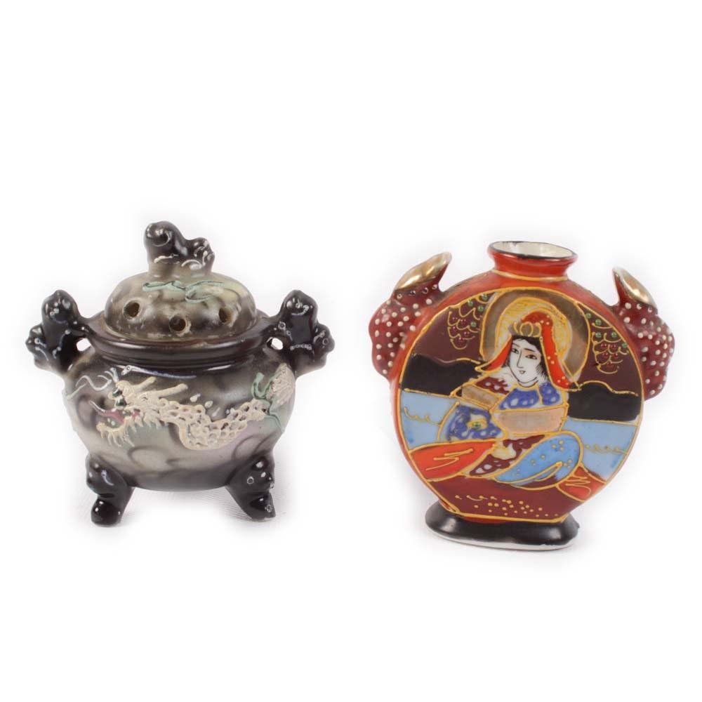 Vintage Handmade Japanese Petite Pottery Vessels