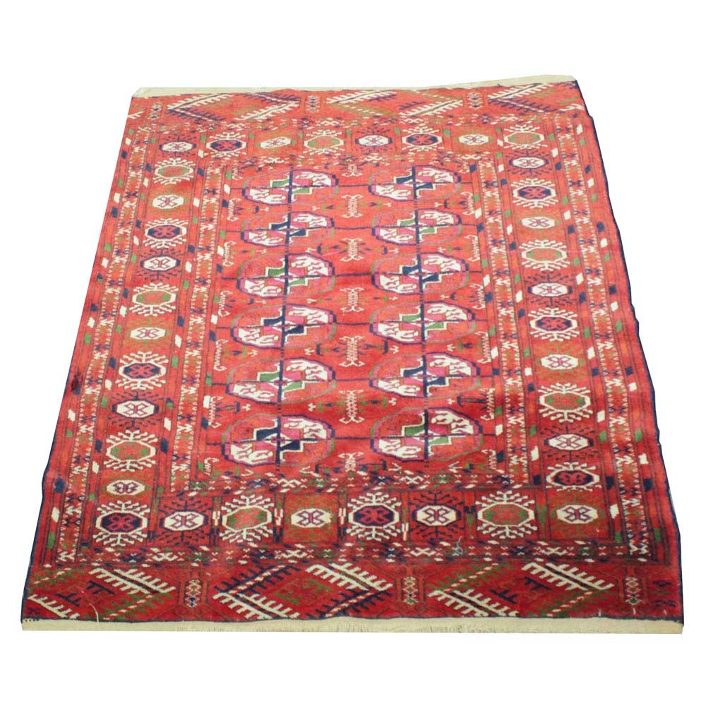 Vintage Hand Woven Persian Wool Accent Rug