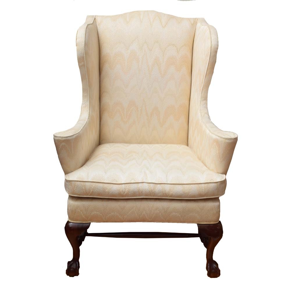 Chippendale Style Wing Back Chair by Southwood