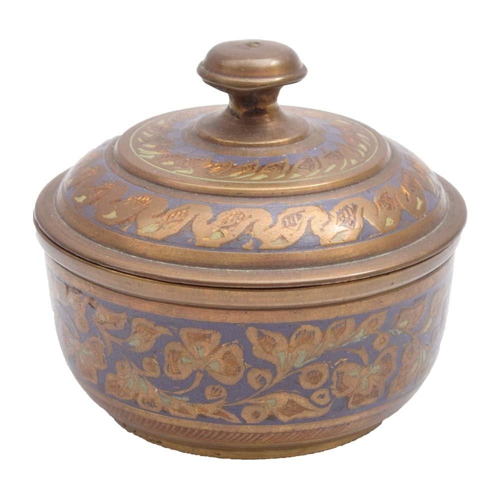 India Brass Decorative Trinket Box