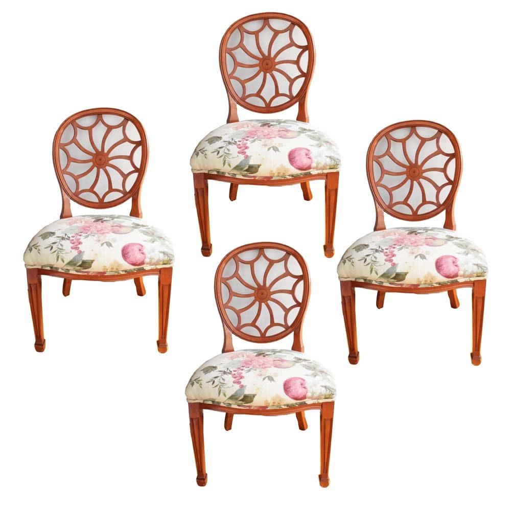 Four Georgian Style Wheelback Dining Chairs