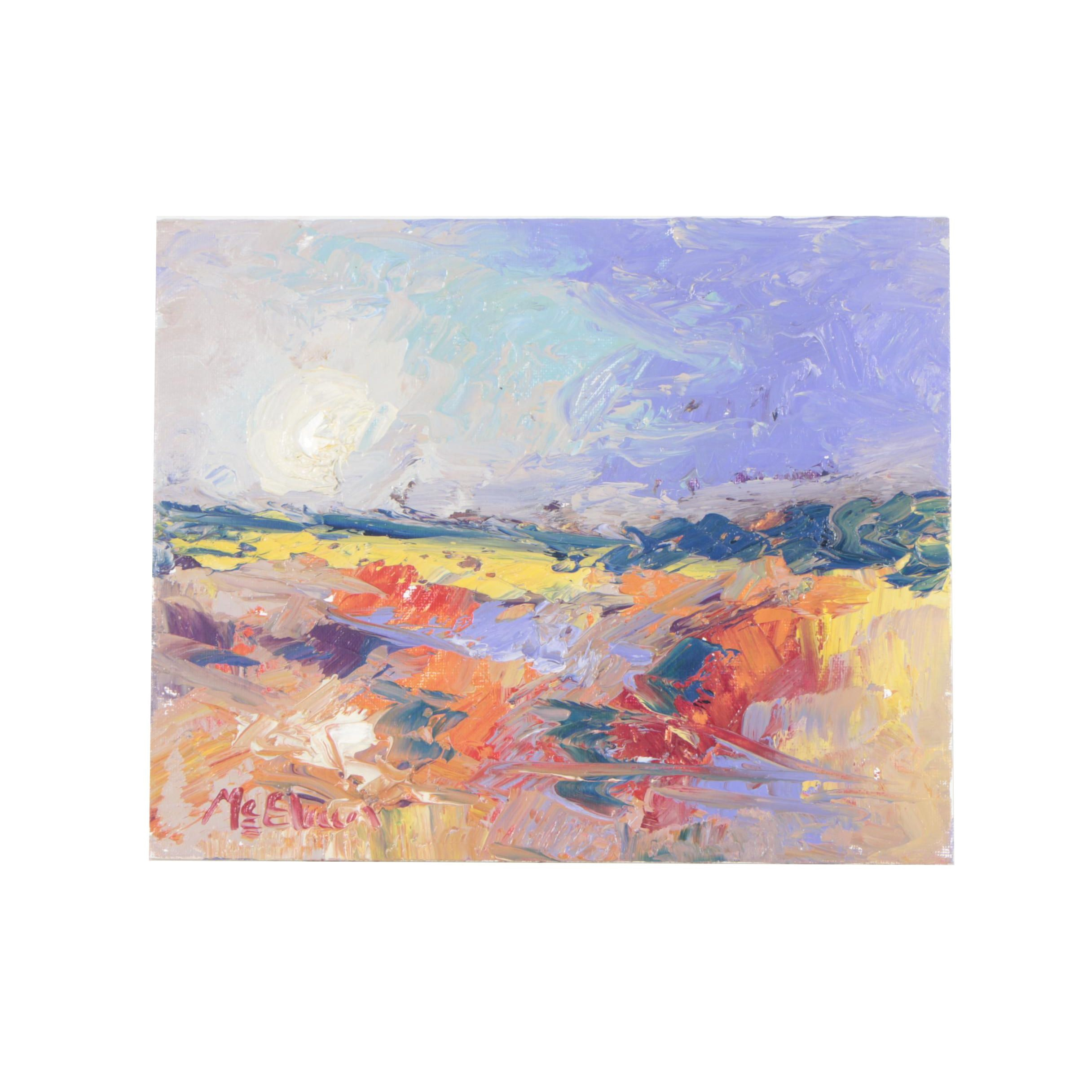 "Claire McElveen Plein Air Oil Painting ""Color Field Distant"""