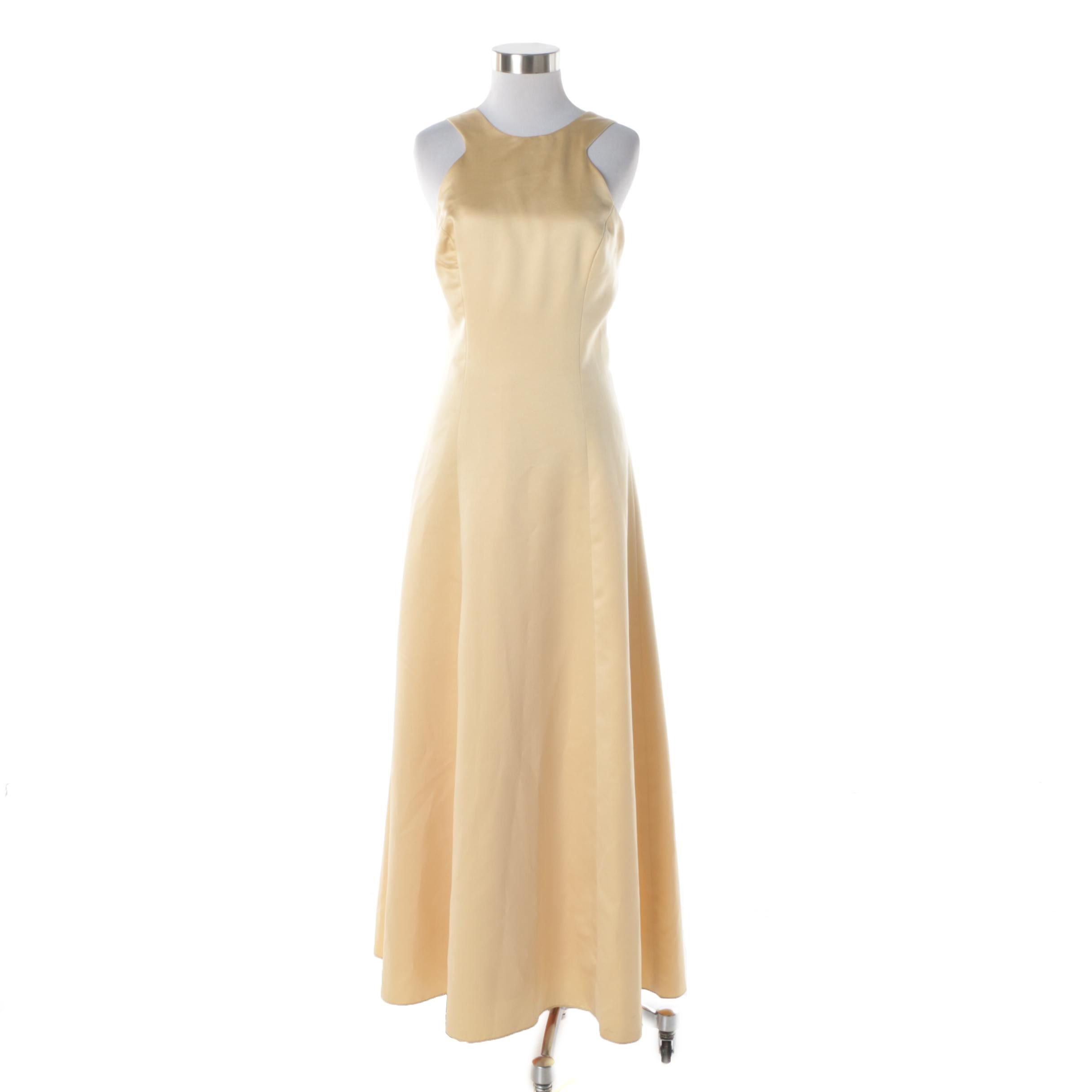 Jim Hjelm Occasions Sleeveless Evening Gown in Cream