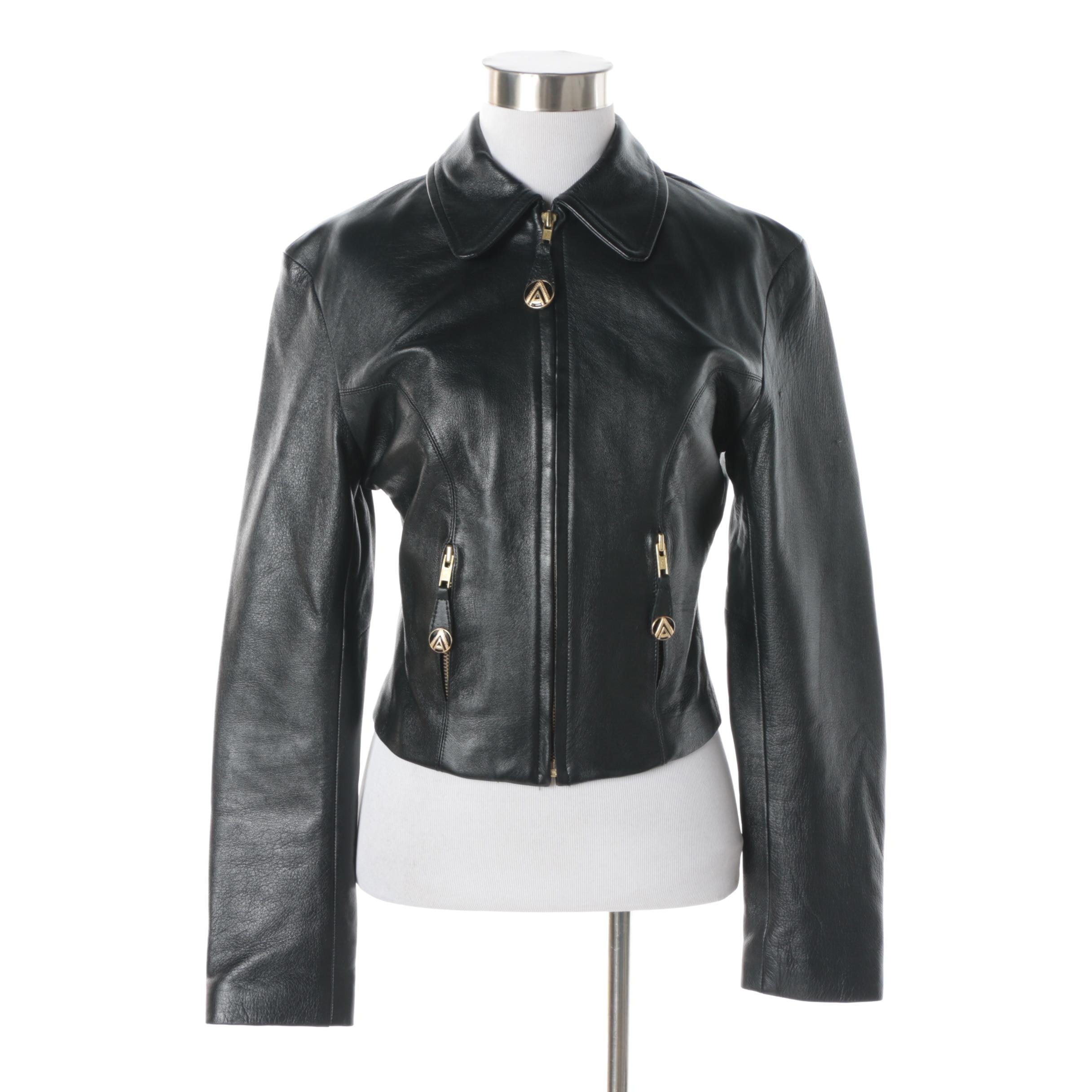 Women's Caché Black Leather Jacket