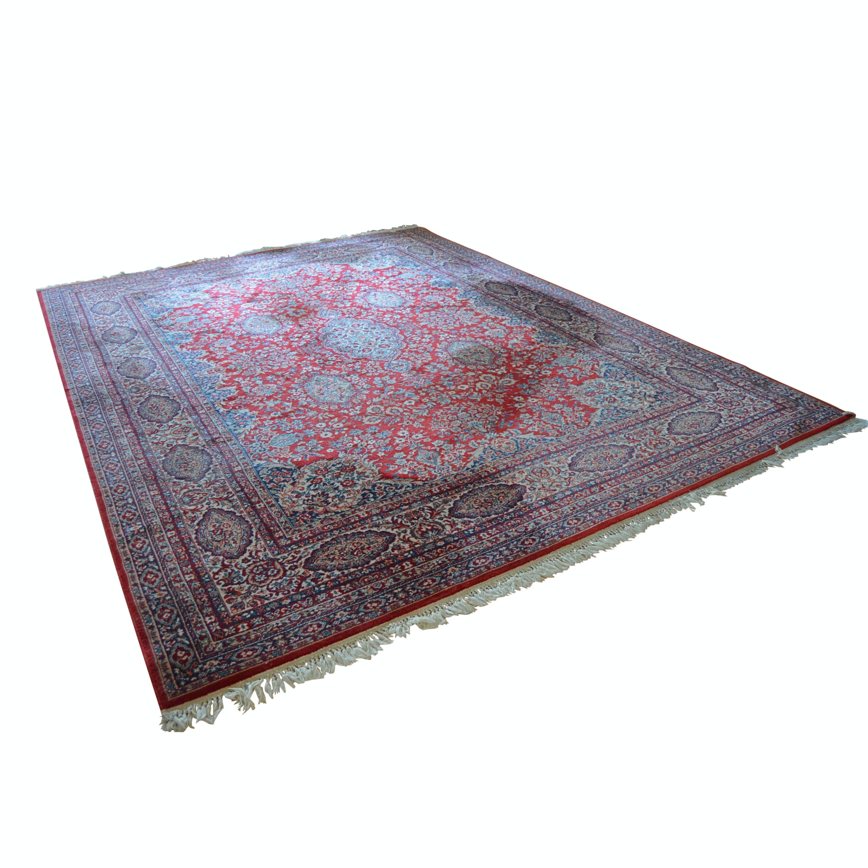 "Machine-Woven Couristan Kashimar Collection ""Red Kerman"" Area Rug"