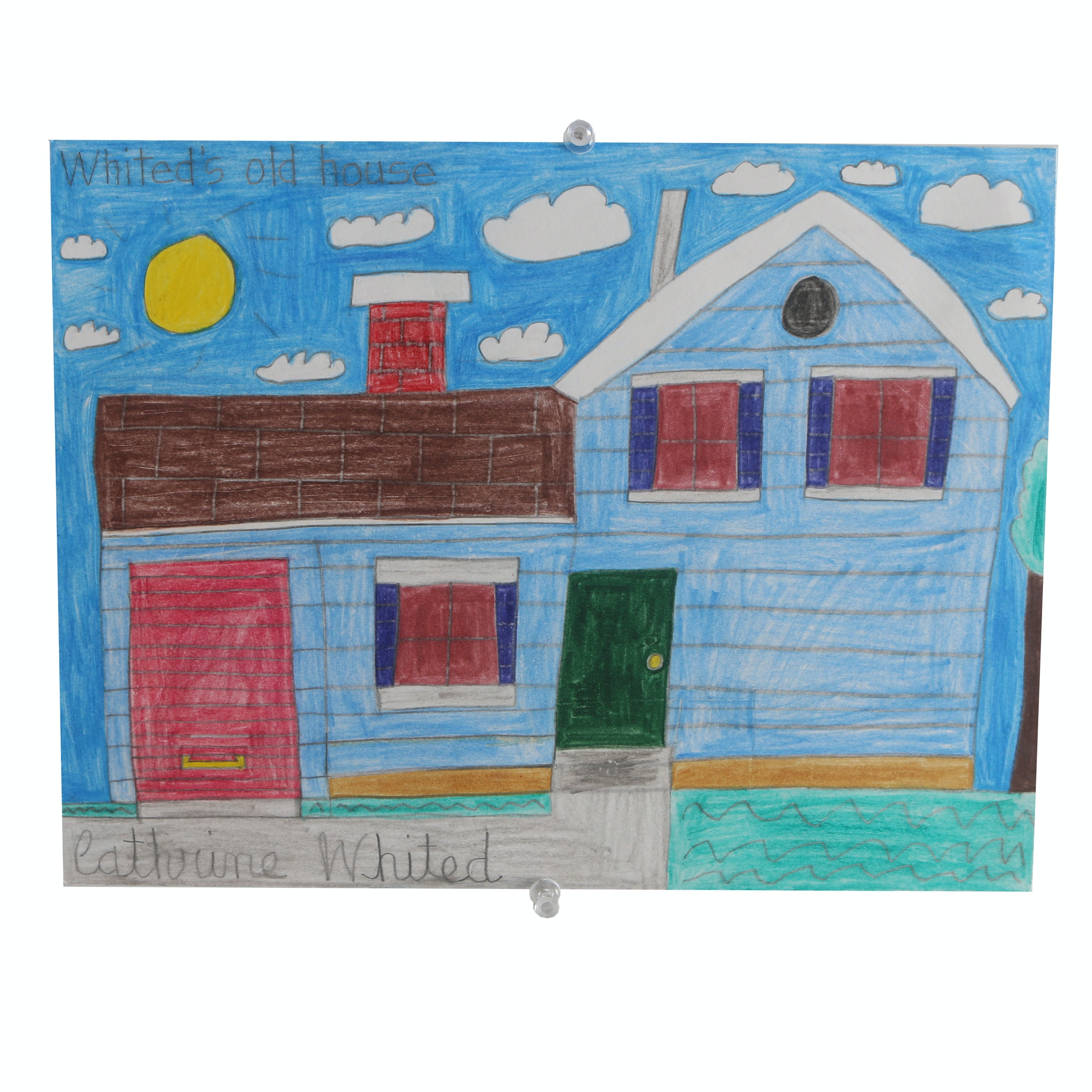 "Cathrine Whited 2015 Colored Pencil Drawing on Bristol ""Whited's Old House"""