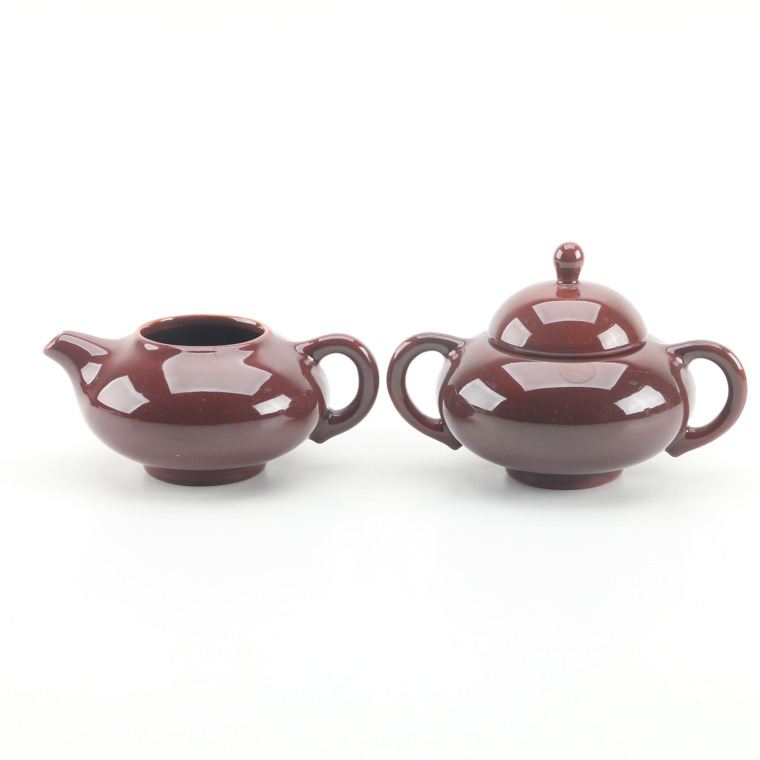 Vintage Gladding-McBean California Pottery Sugar and Creamer Set