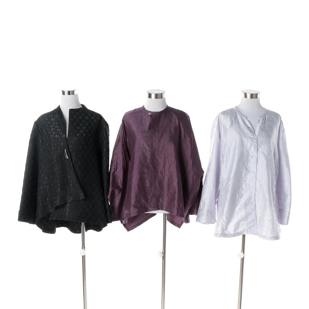 Women's Eileen Fisher and Planet Tops with I.C. by Connie K Jacket