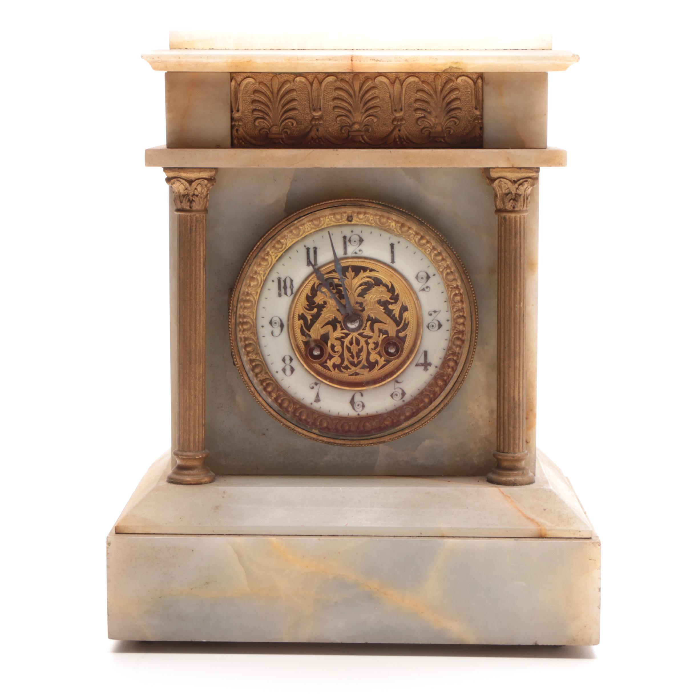 Empire Style Portico Clock