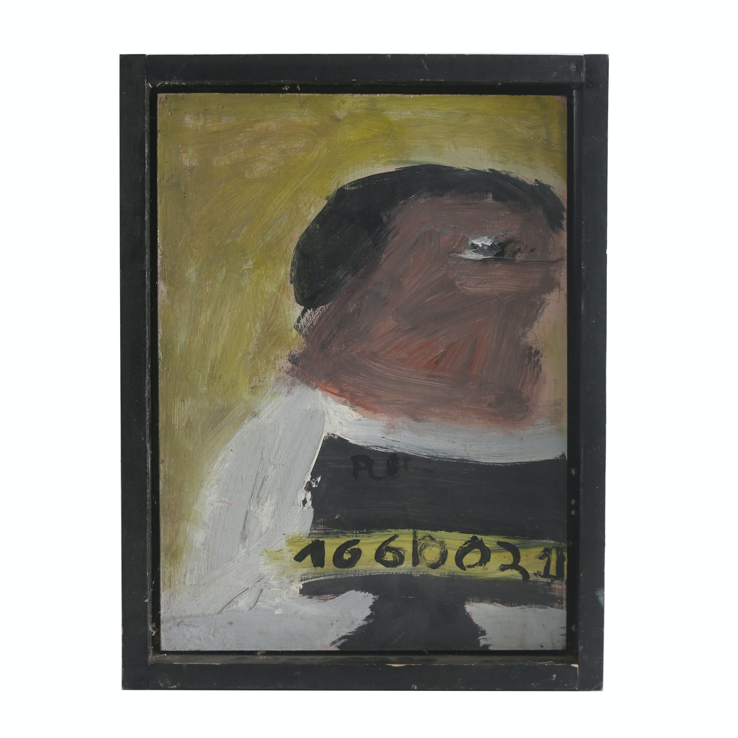 "Brian Dooley 2008 Acrylic Painting on Wood ""Locked Up"""
