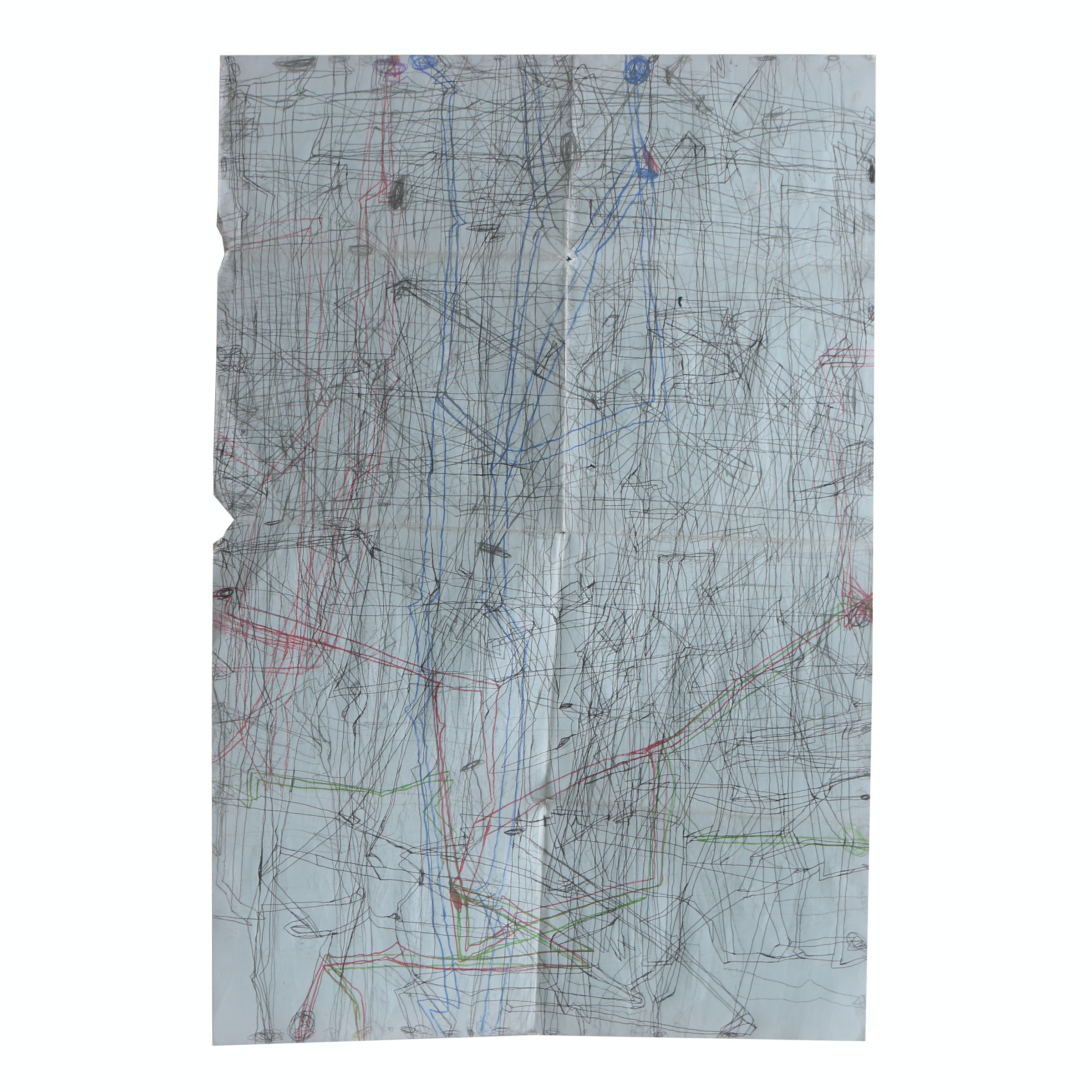 "Robert Bolubasz 2016 Mixed Media Drawing on Paper ""Untitled (Map 2)"""