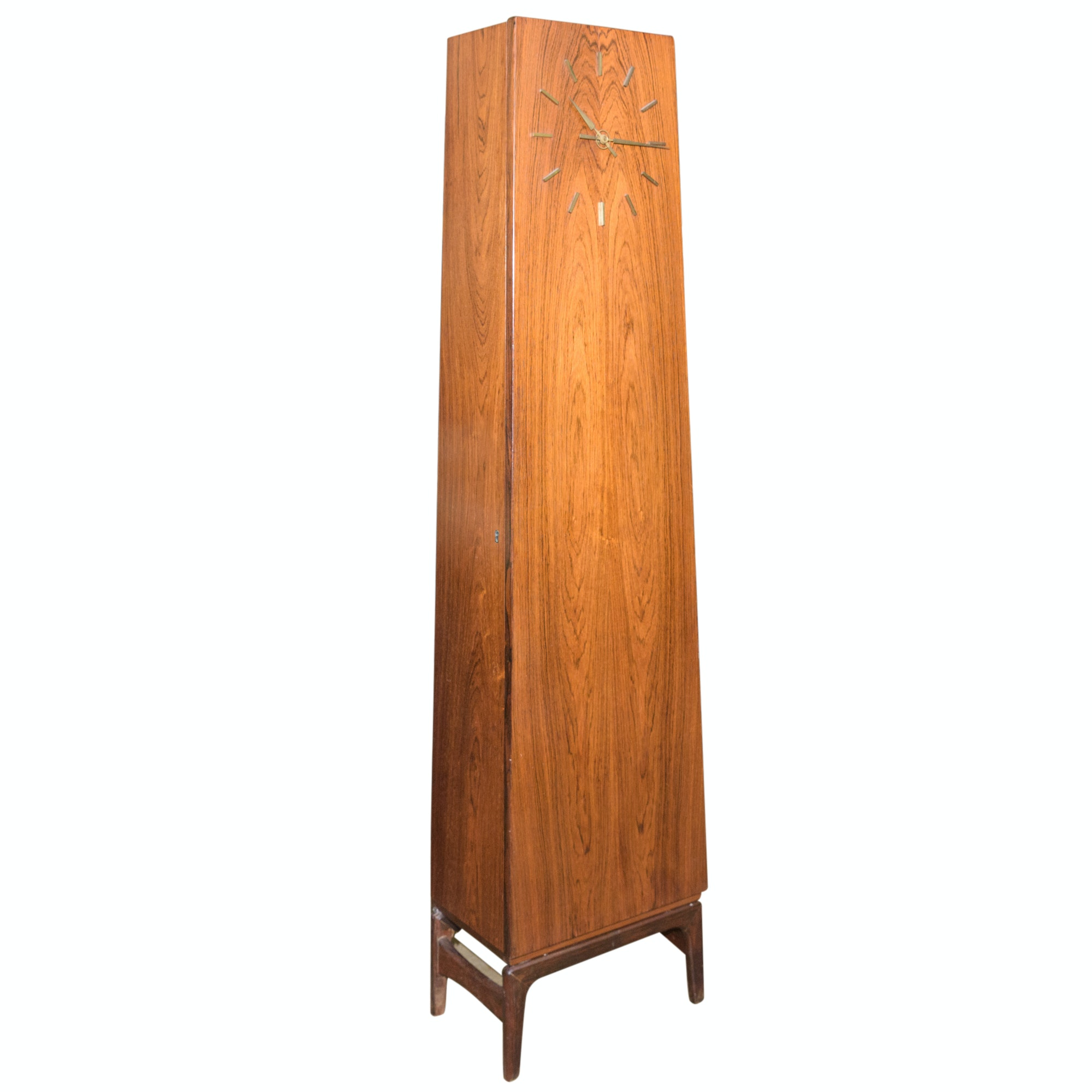 Danish Modern Style Teak Cabinet with Clock