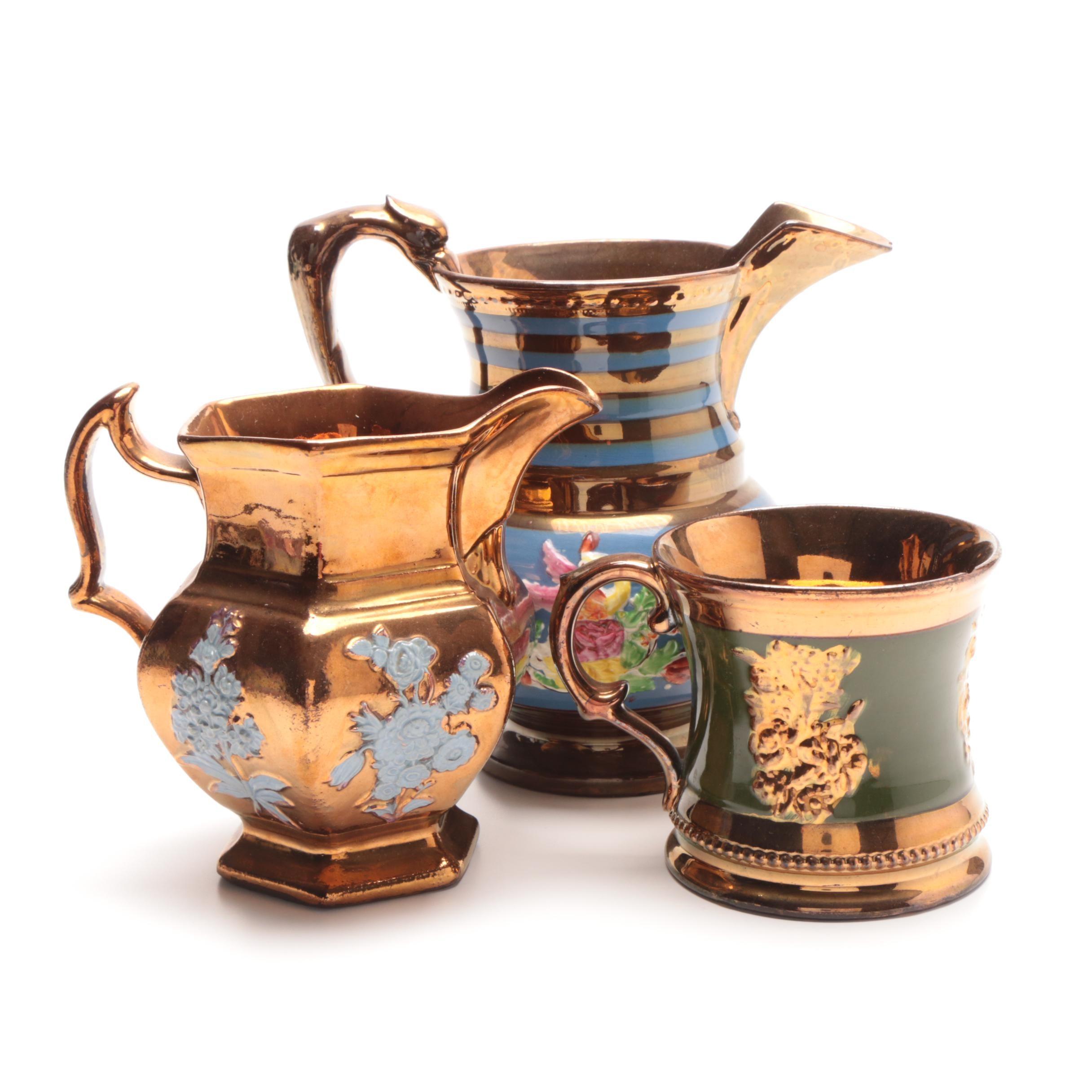 Antique Copper Lusterware
