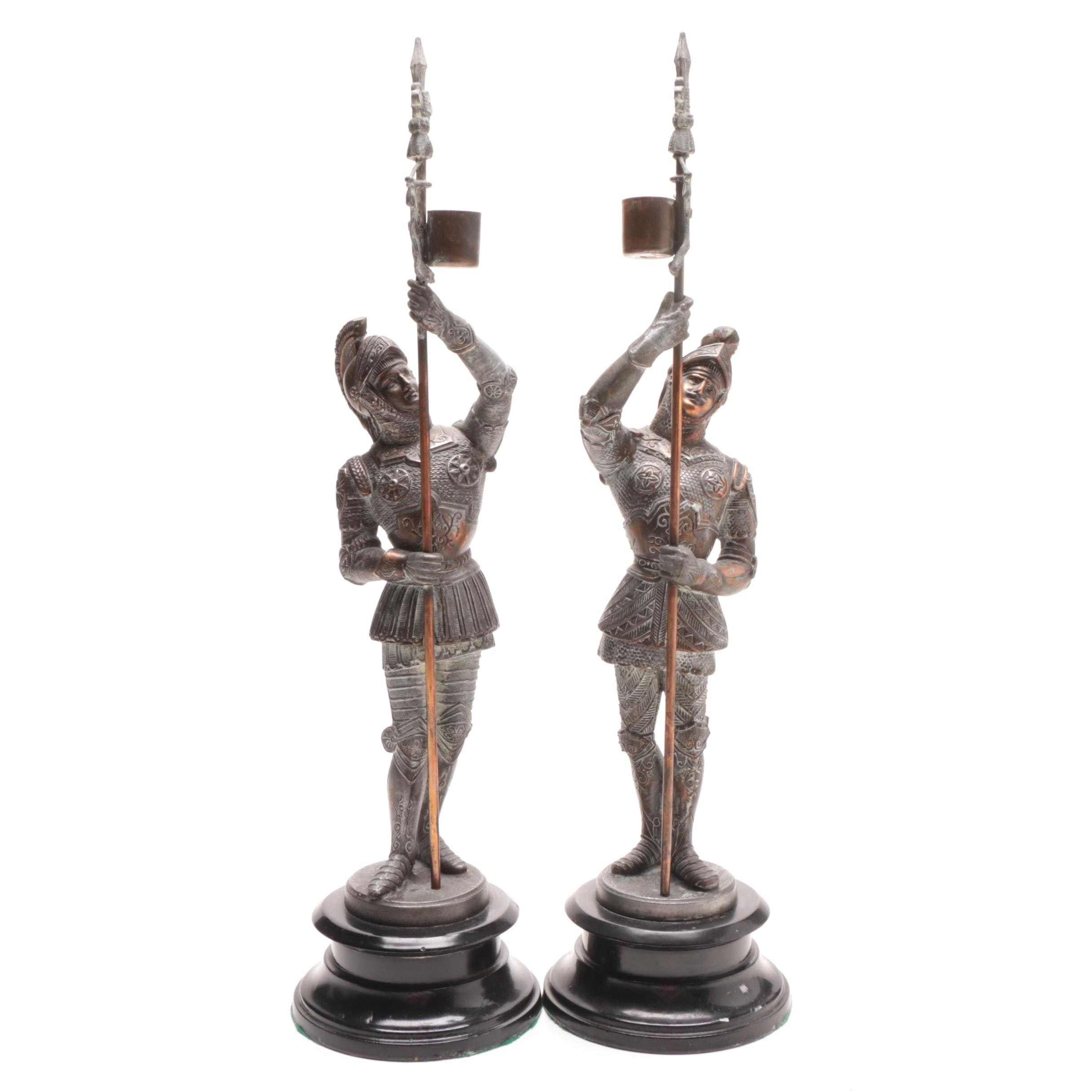 Medieval Knight Candle Holders