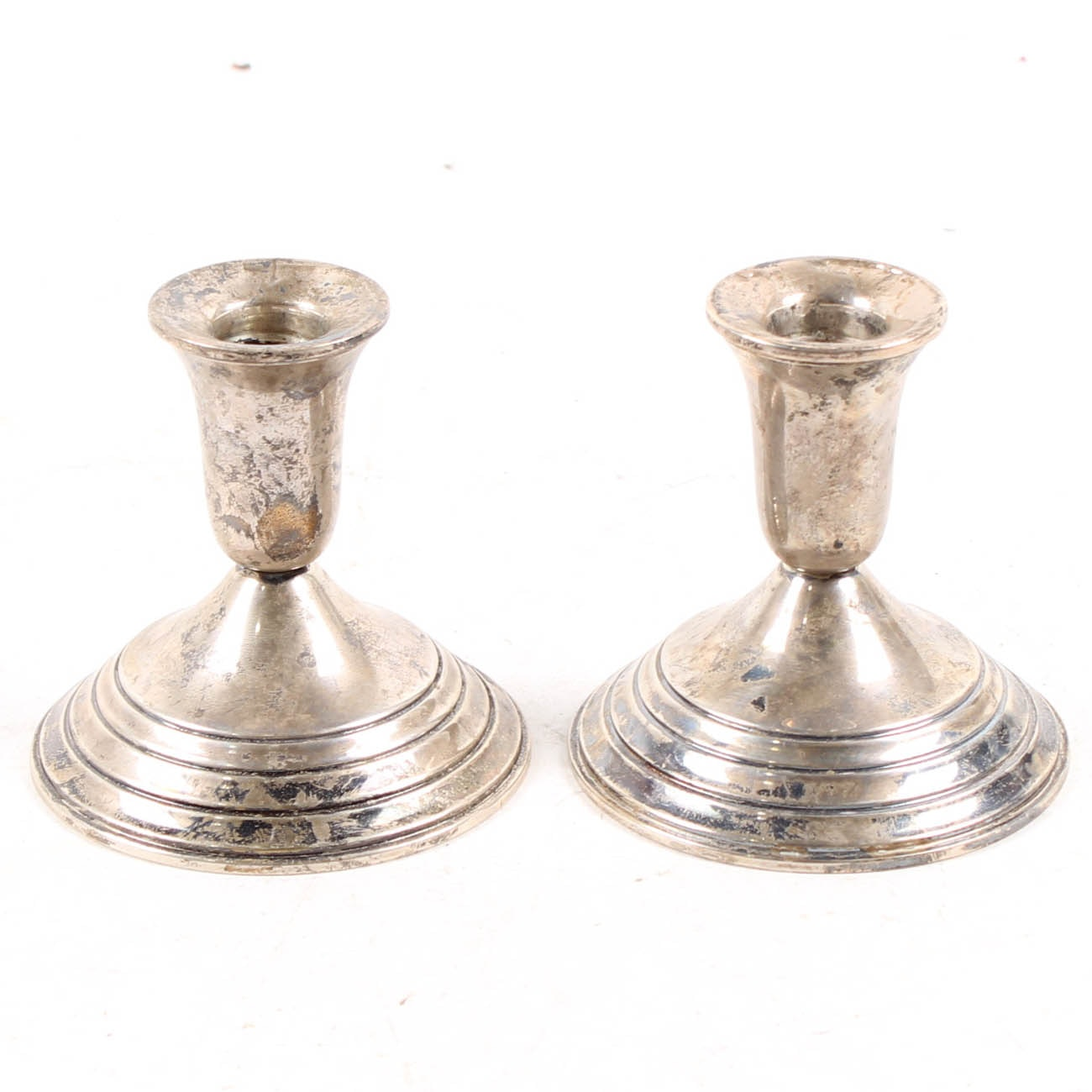 International Sterling Silver Weighted Reinforced Candle Holders