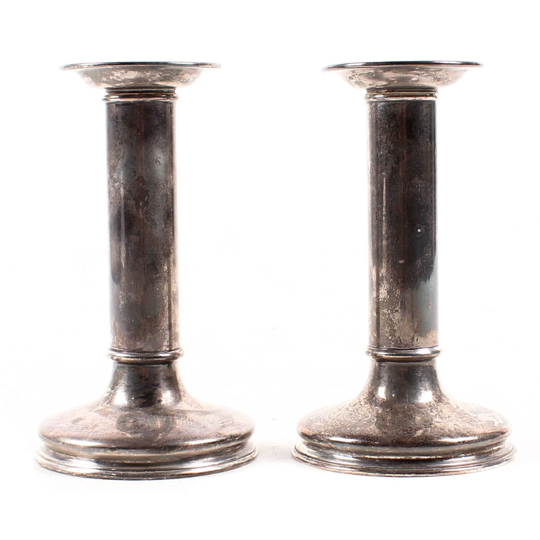 Tiffany & Co. Weighted Sterling Silver Candlesticks