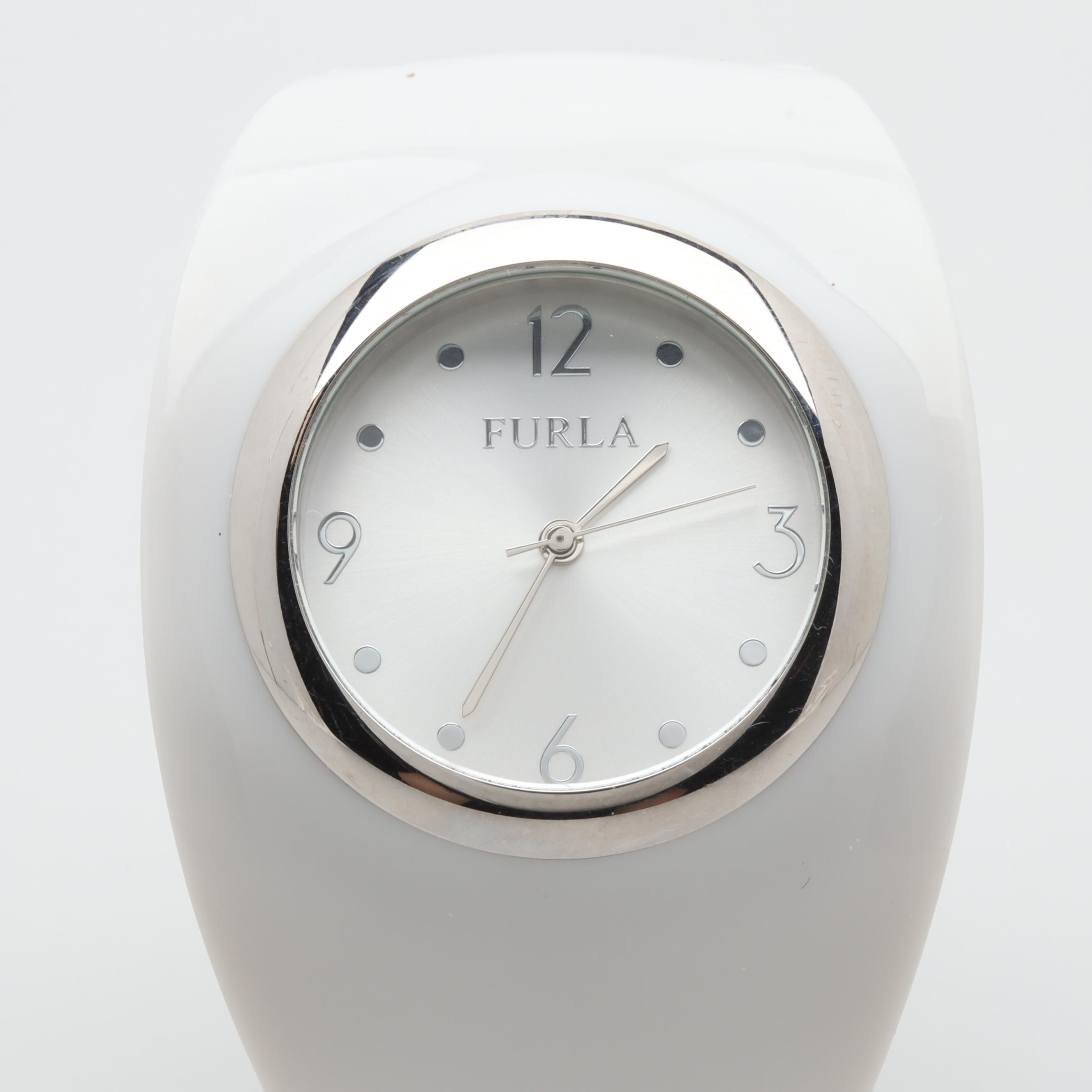 Furla Stainless Steel and Plastic Resin Bangle Wristwatch