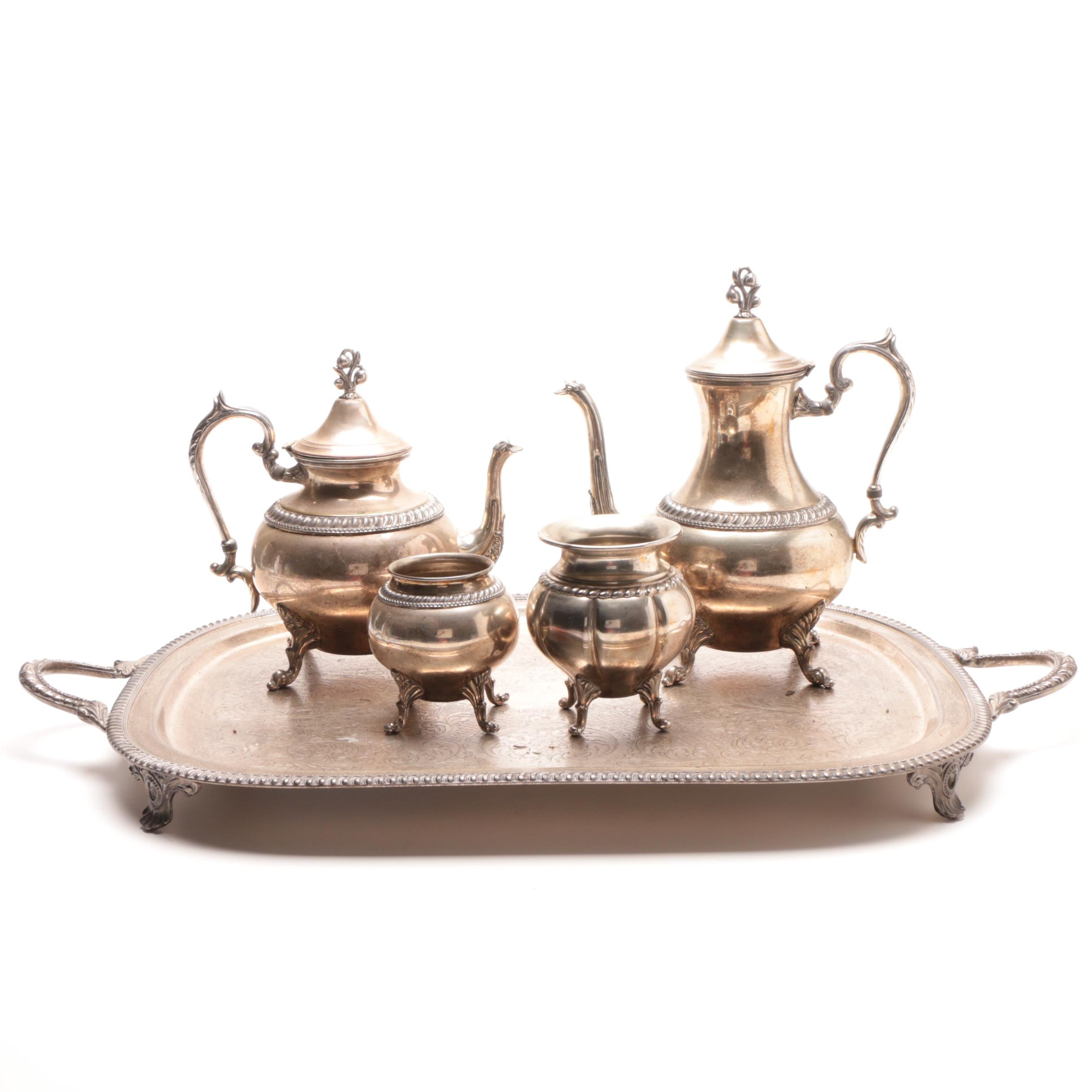 Assembled Silver Plate Coffee and Tea Service