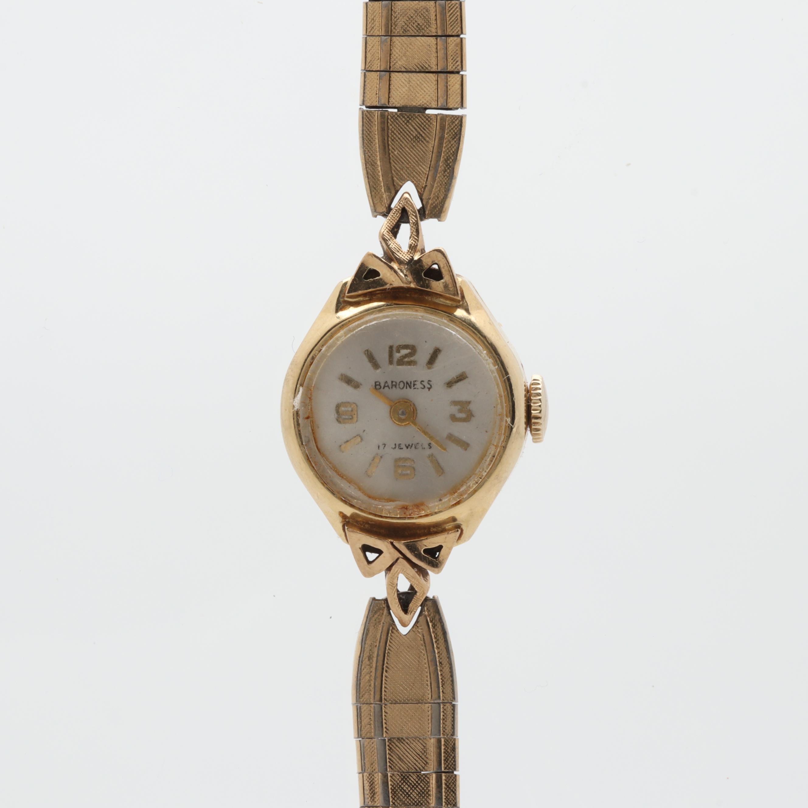 Baroness 14K Yellow Gold Wristwatch