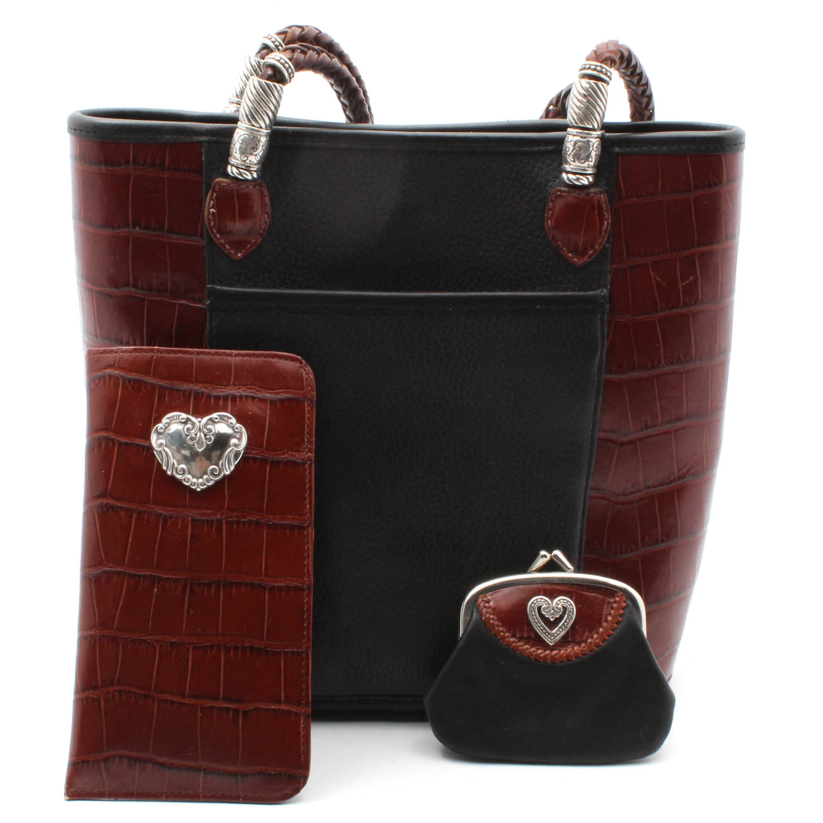 Brighton Leather Shoulder Bag with Accessories