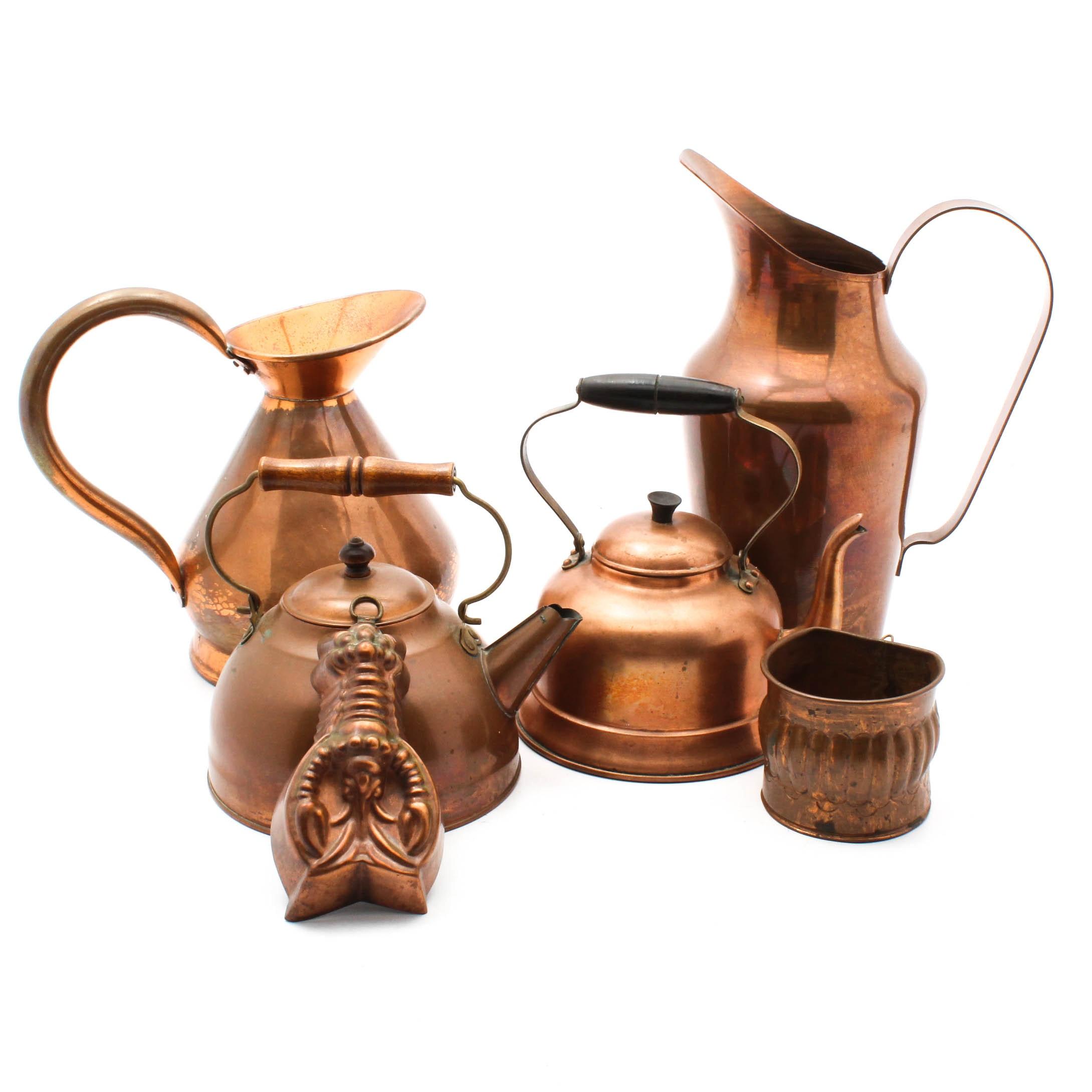 Vintage Copper Tableware