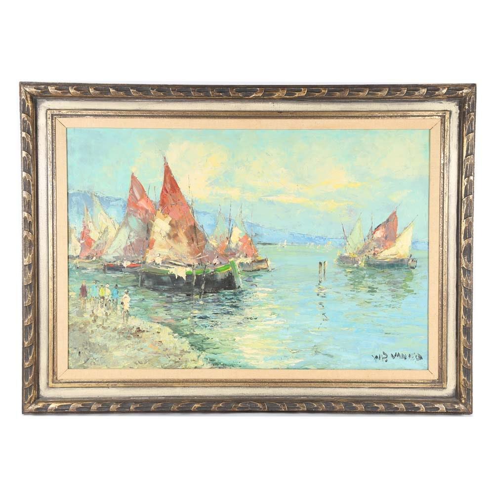 """Walter Prescher van Ed Oil Painting """"Corrsica I"""""""