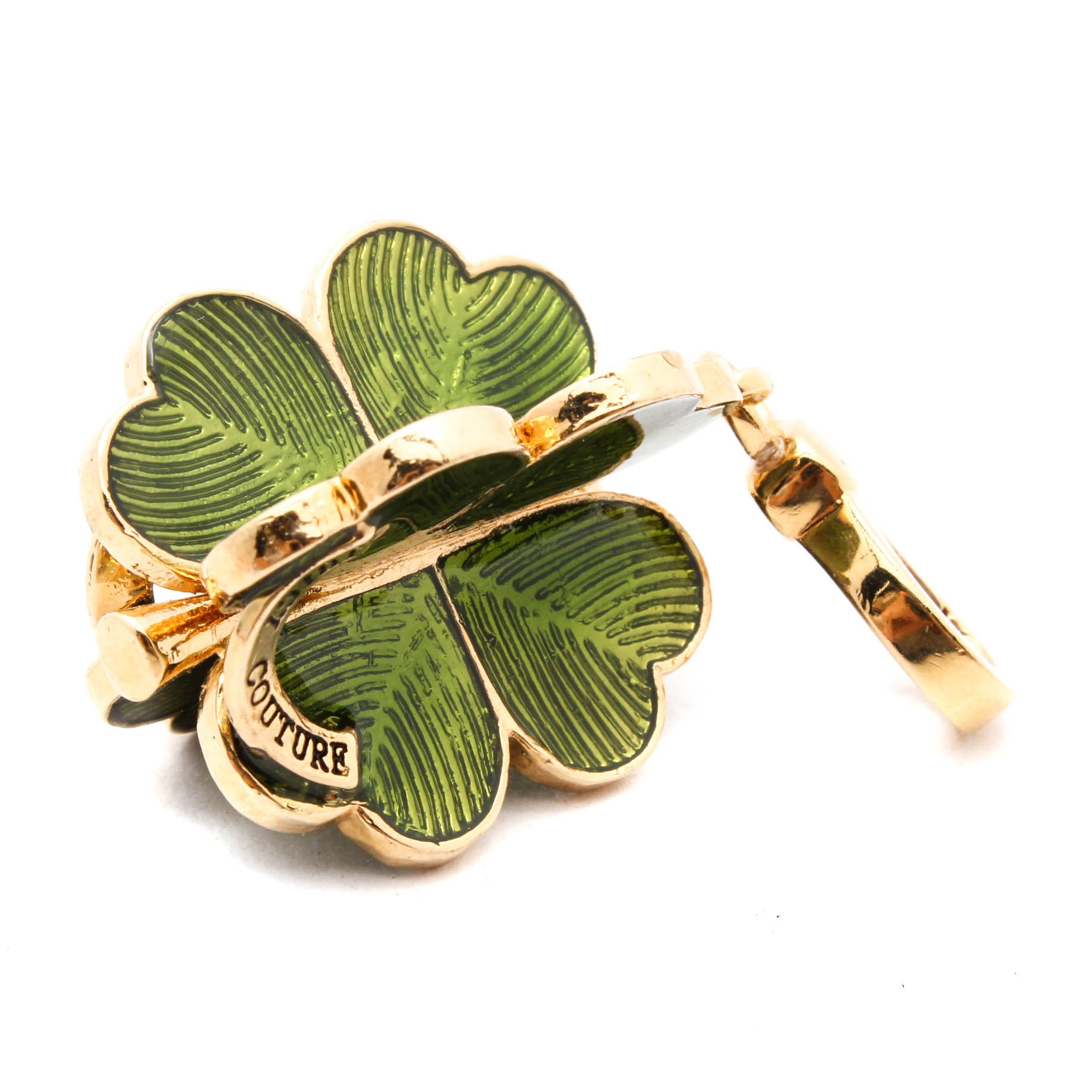 Juicy Couture Shamrock Keychain Clip