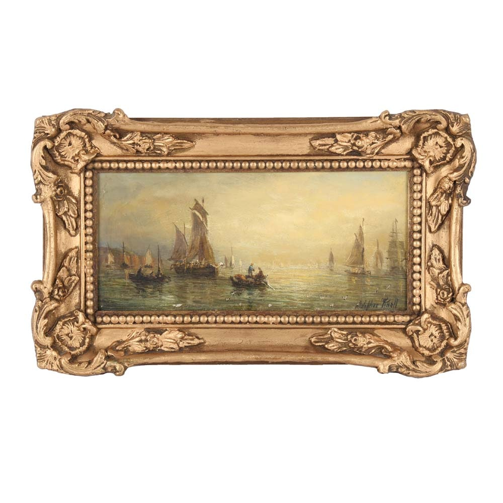 William Adolphus Knell Oil Painting on Board