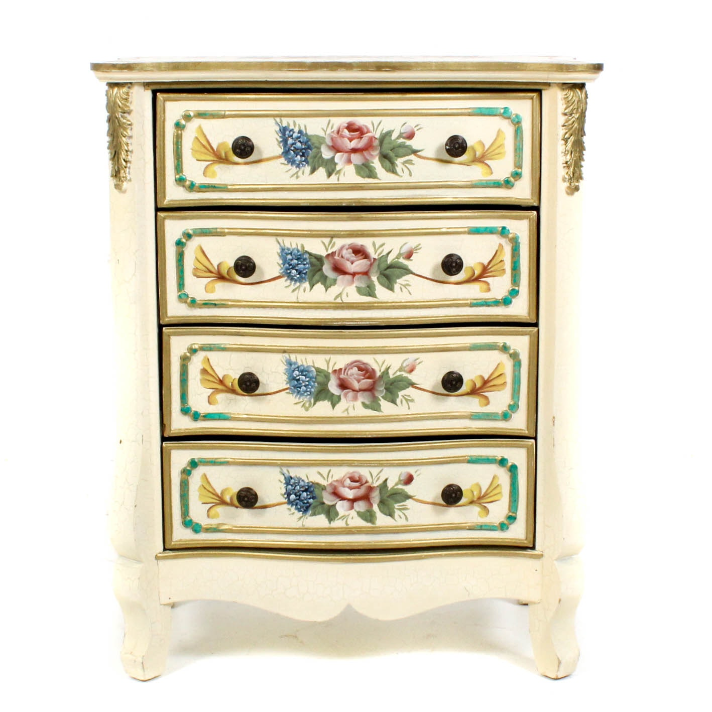 Hand Painted Small Chest of Drawers
