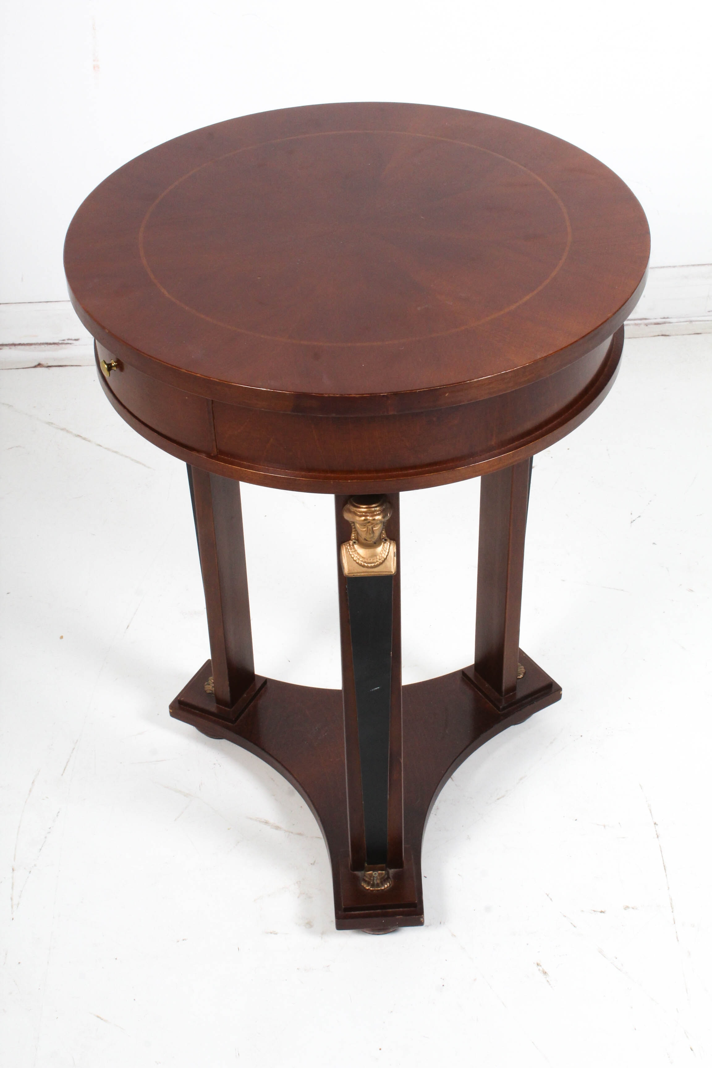 French Empire Style Side Table by Emerson et Cie