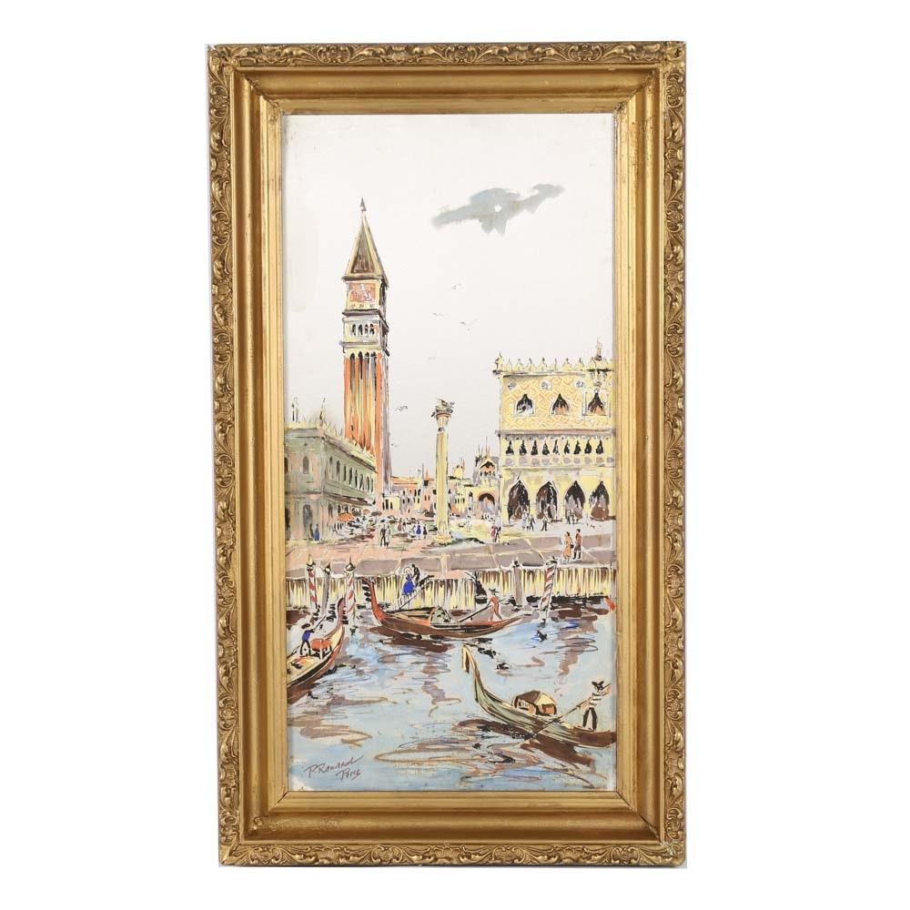 Paul Renard Oil Painting on Silk