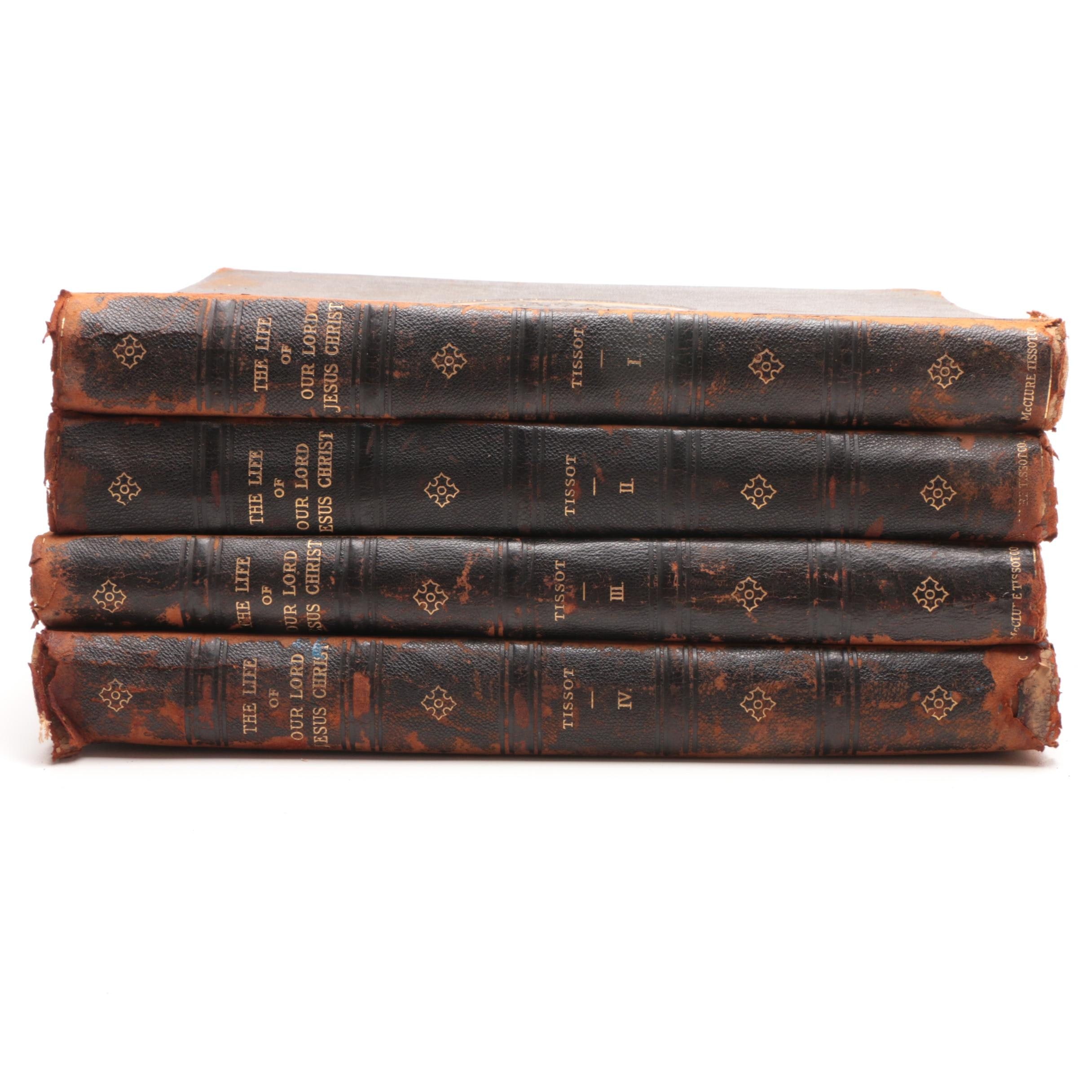 Antique Four Volume Collection on the Life of Jesus Christ