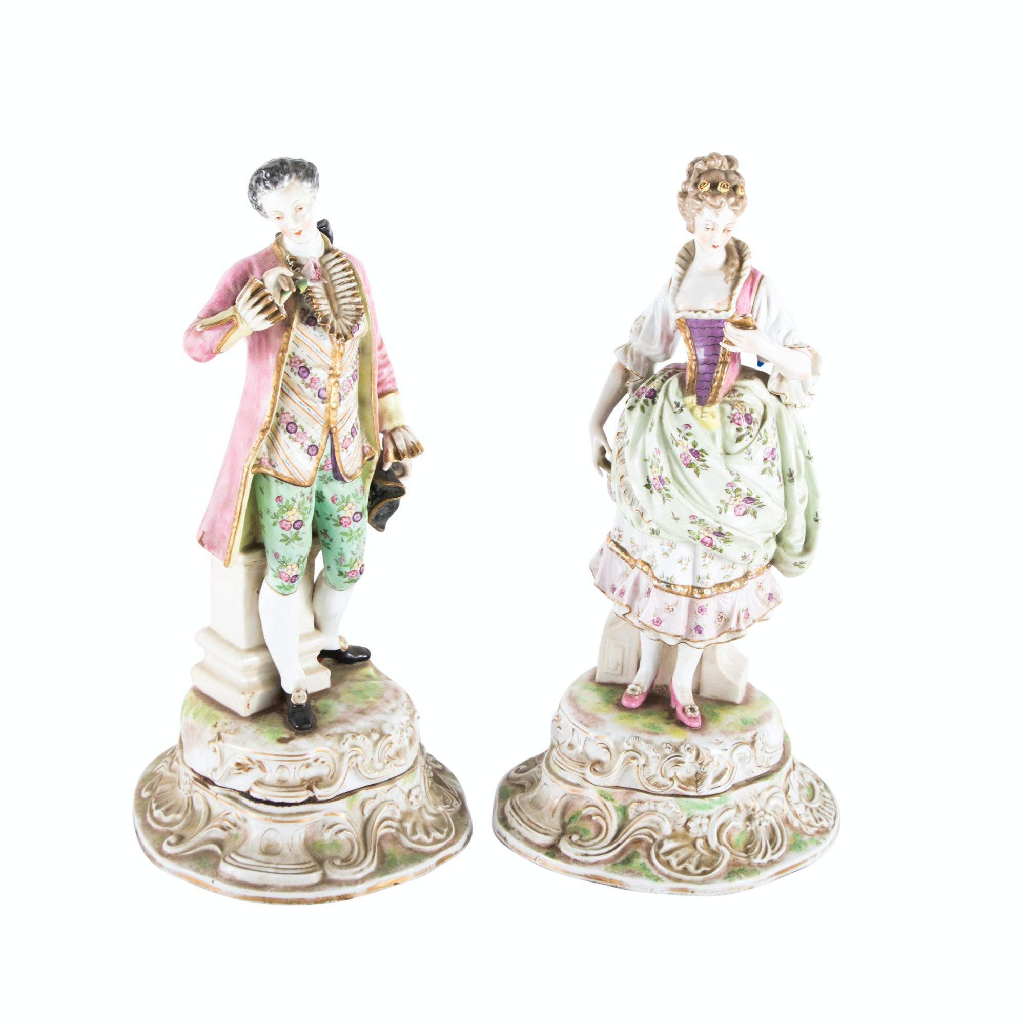 Pair of German Porcelain Figures, 20th Century