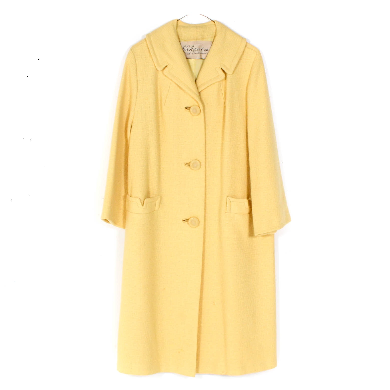 Vintage Yellow Overcoat from L. S. Ayres & Company