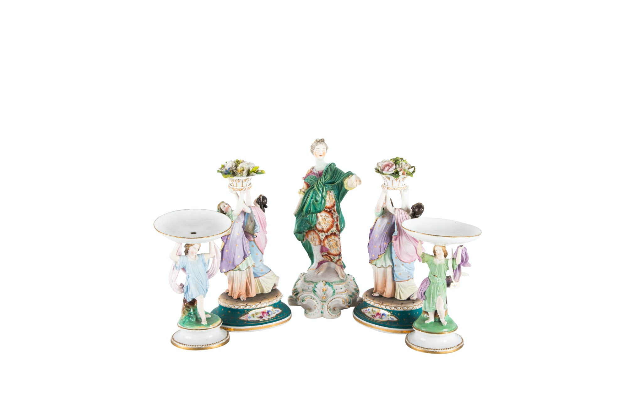 Collection of English and German Figural Porcelain, Early 19th Century and Later