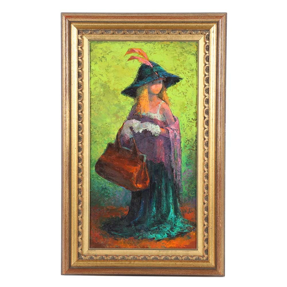 """Iver Rose Oil Painting """"Dress Up"""""""