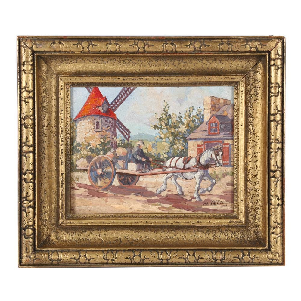 Maurice Lebel Oil Painting on Board
