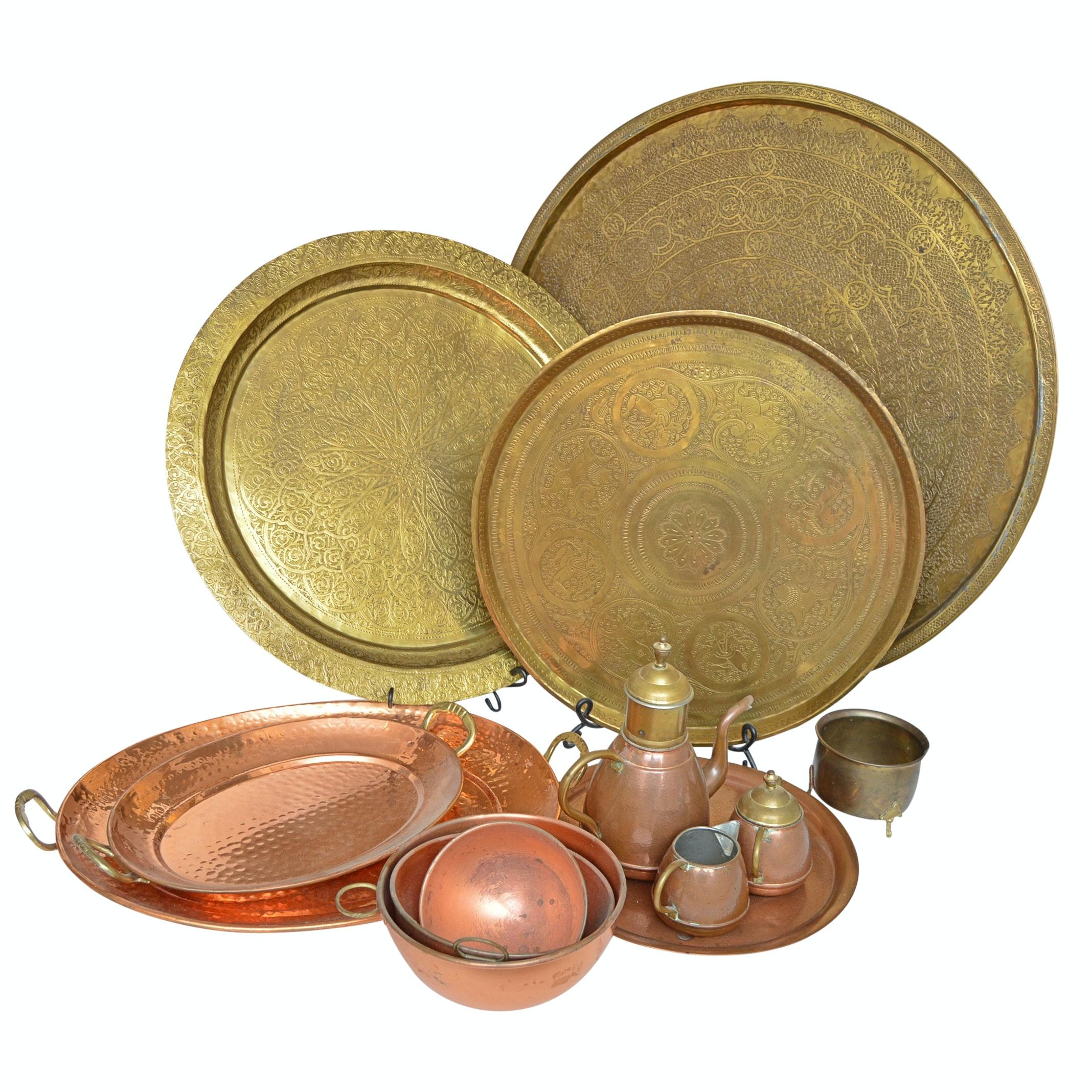 Brassware and Copper Serveware Collection