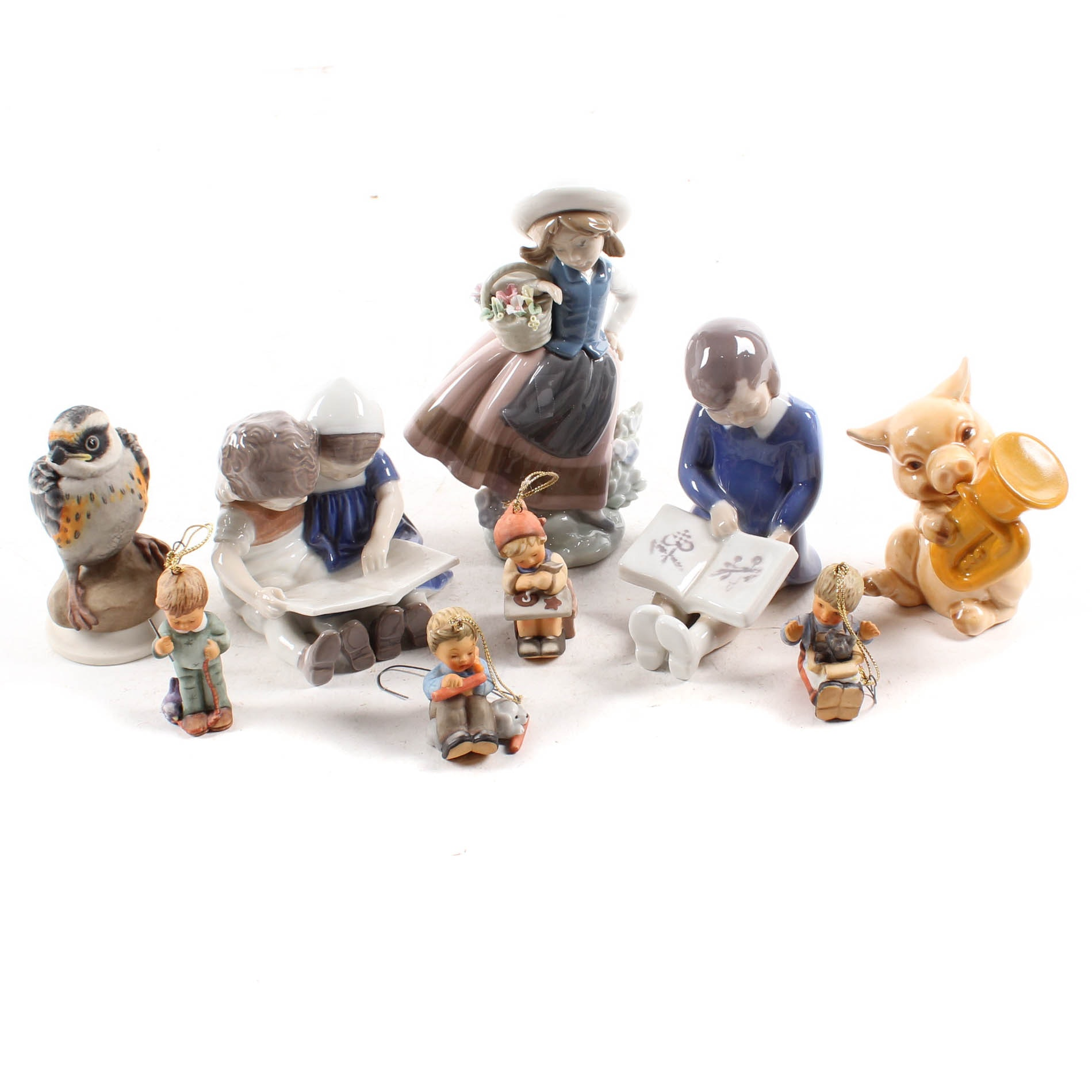 Porcelain Figures with Boehm, Goebel and Lladro