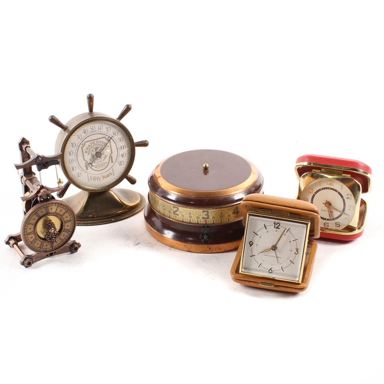 Vintage Desk and Travel Clocks