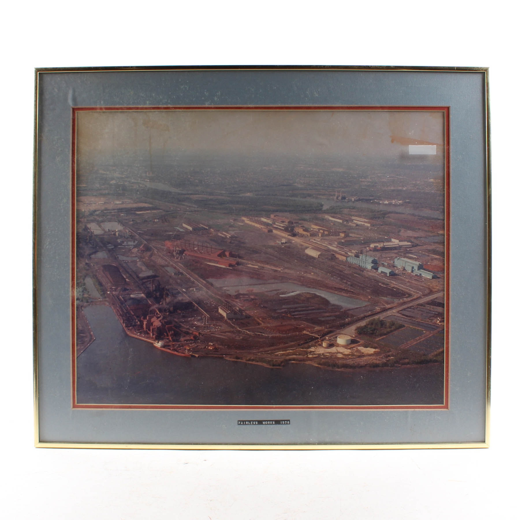 Vintage Aerial Photograph of US Steel Fairless Works