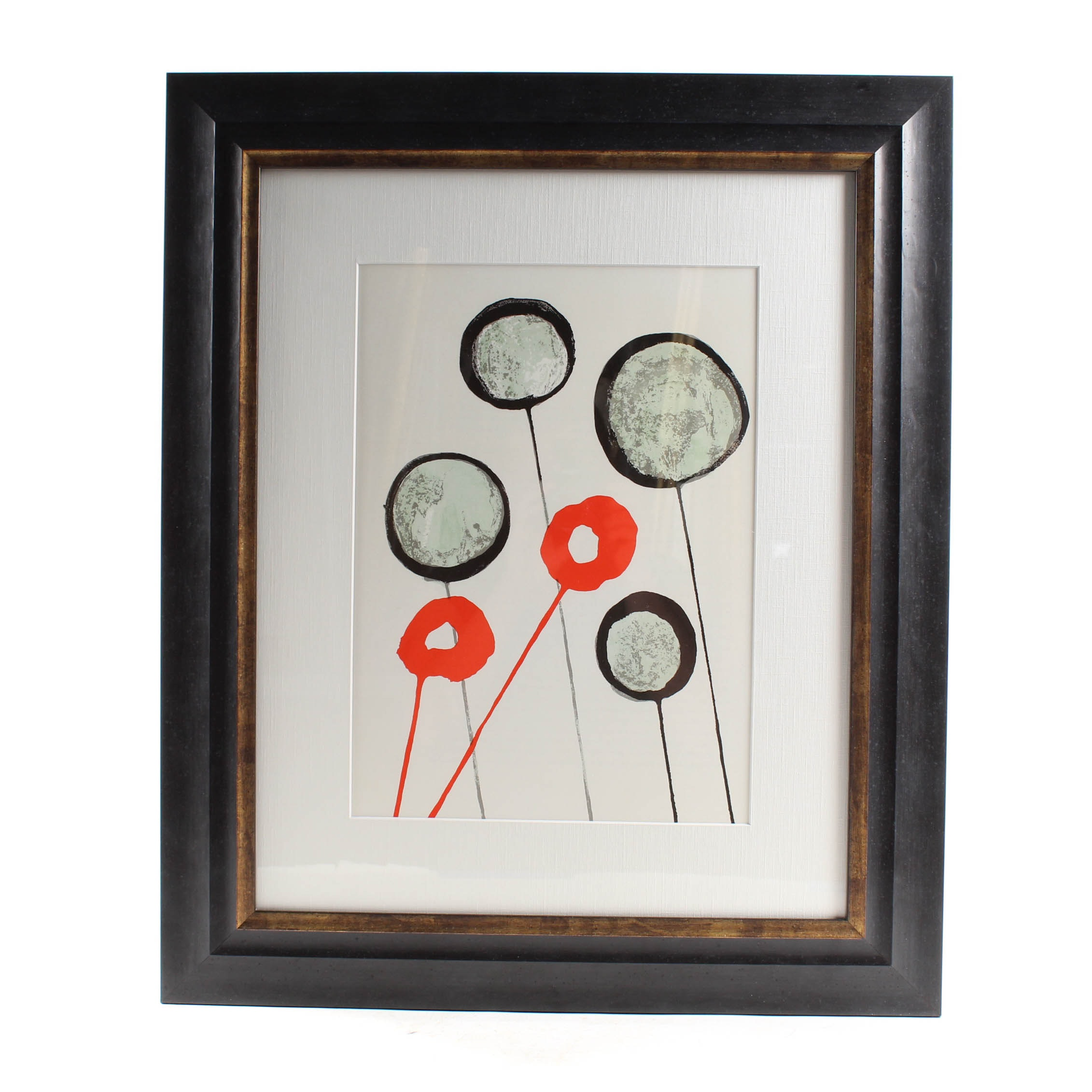 "Alexander Calder Color Lithograph from 1966 ""Derriere le Miroir, No. 156"""