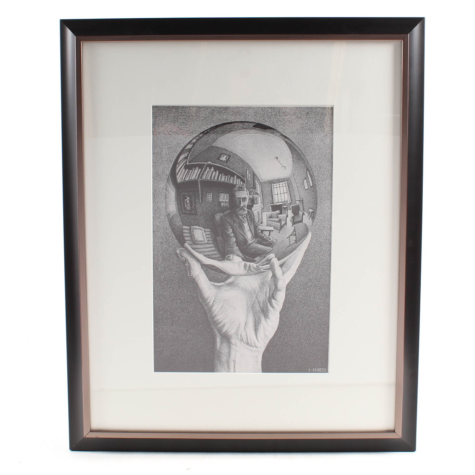 "After M.C. Escher Offset Lithograph ""Hand with Reflecting Sphere"""