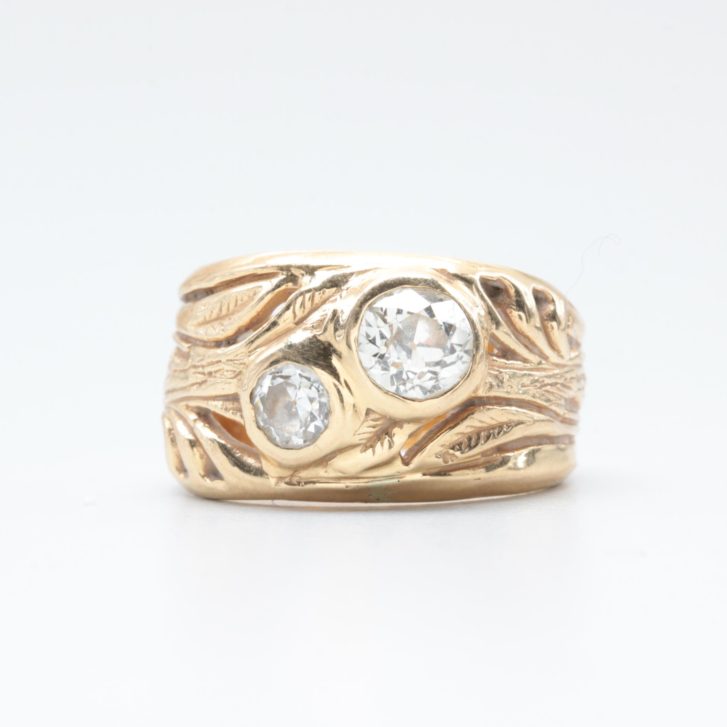 18K Yellow Gold 1.19 CTW Diamond Ring