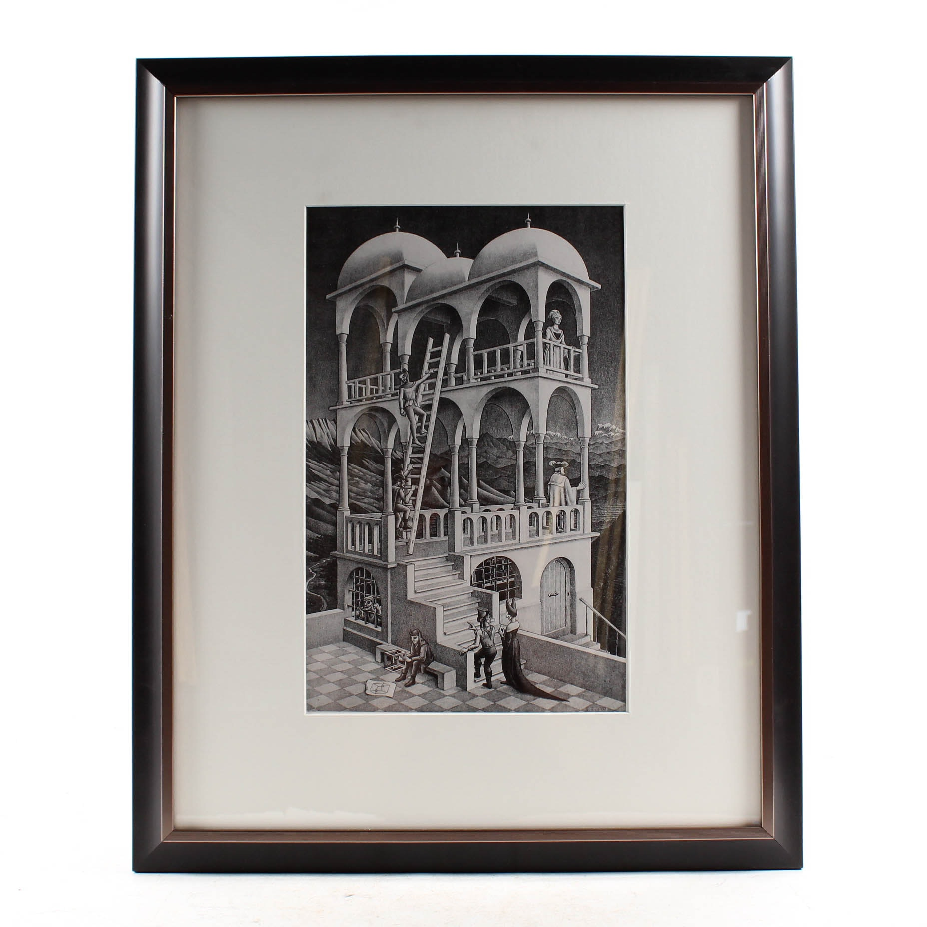 "After M.C. Escher Offset Lithograph ""Belvedere"""