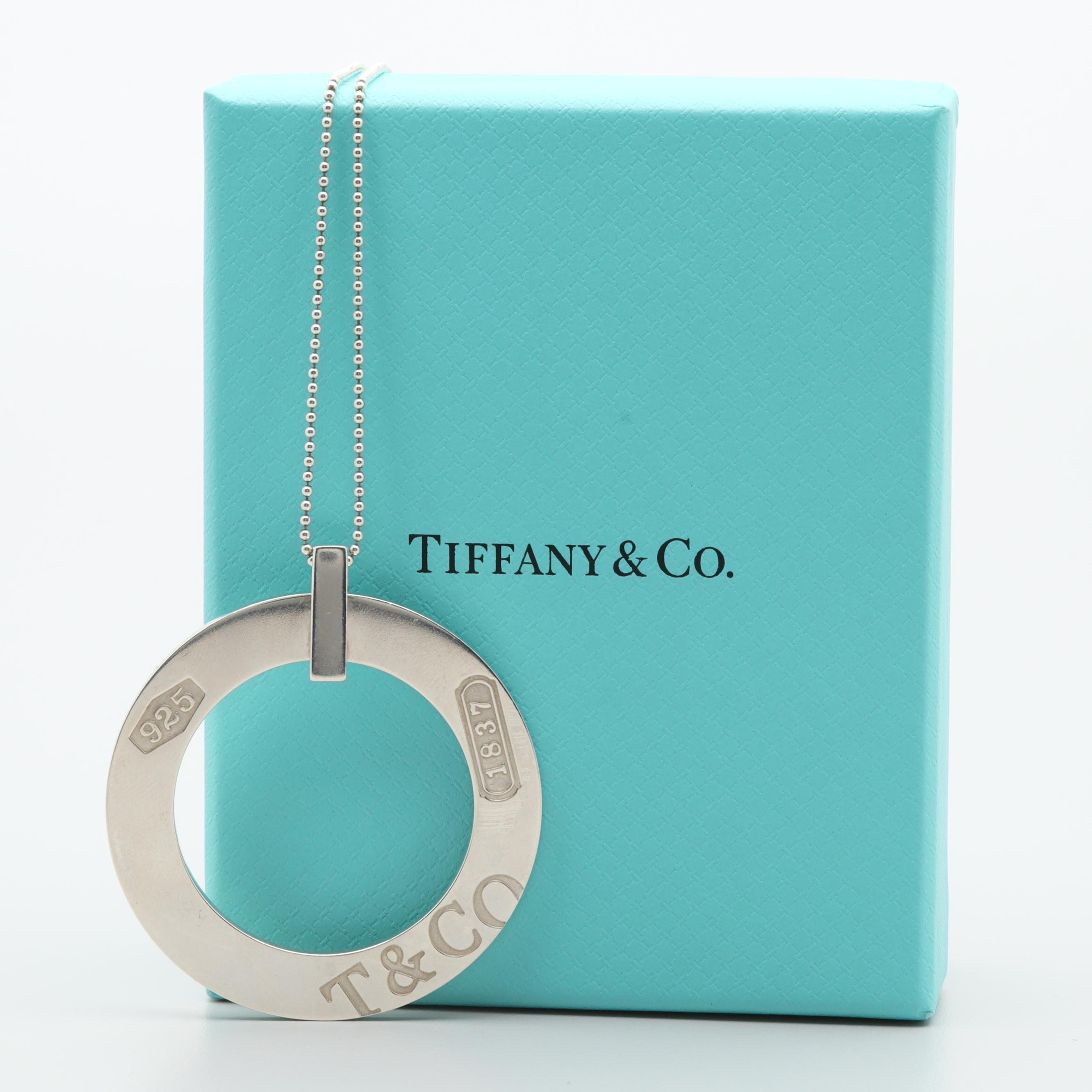 "Tiffany & Co. ""1837 Collection"" Sterling Silver Pendant and Necklace"
