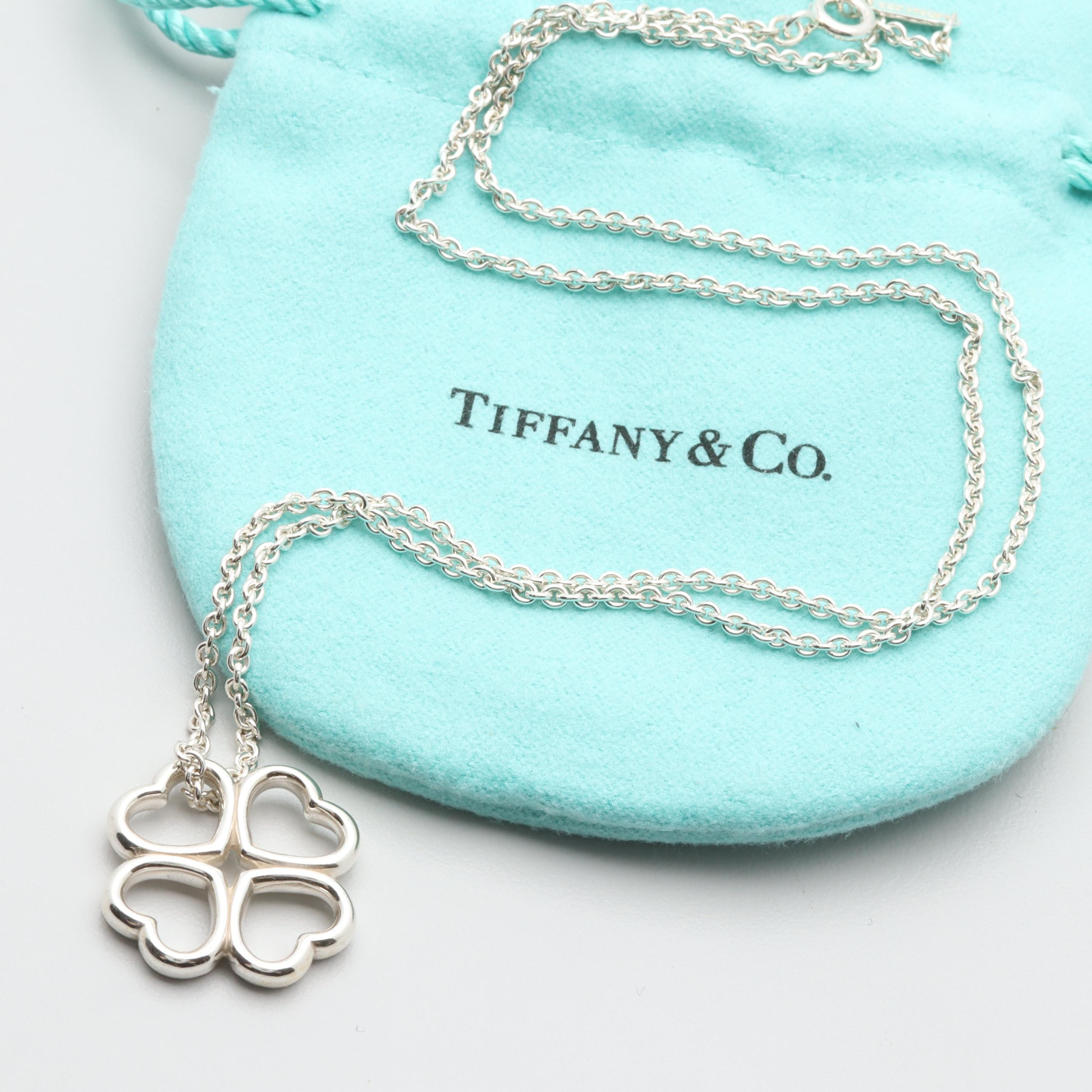 Tiffany & Co. Sterling Silver Four Leaf Clover Necklace