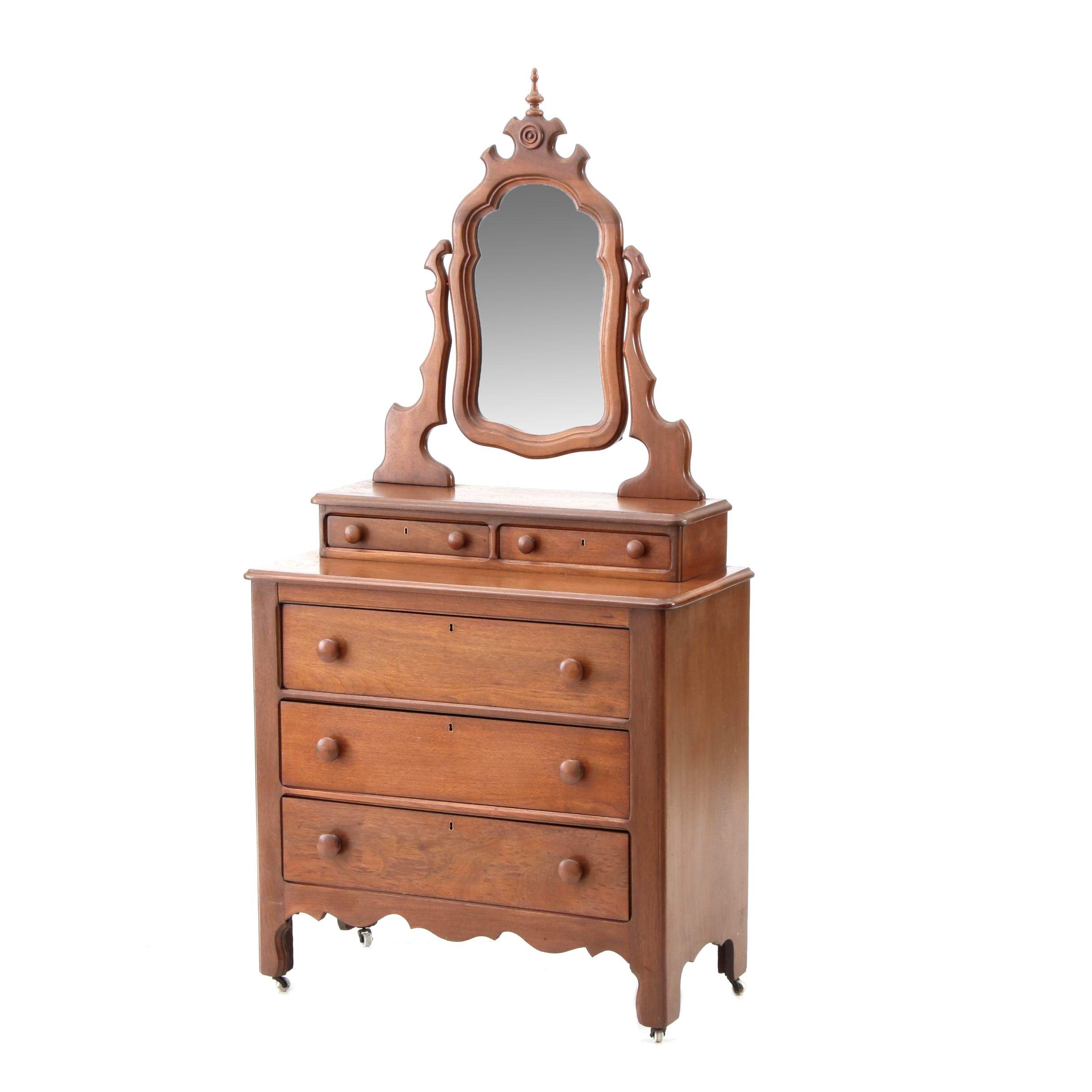 Early 20th-Century Walnut Dresser